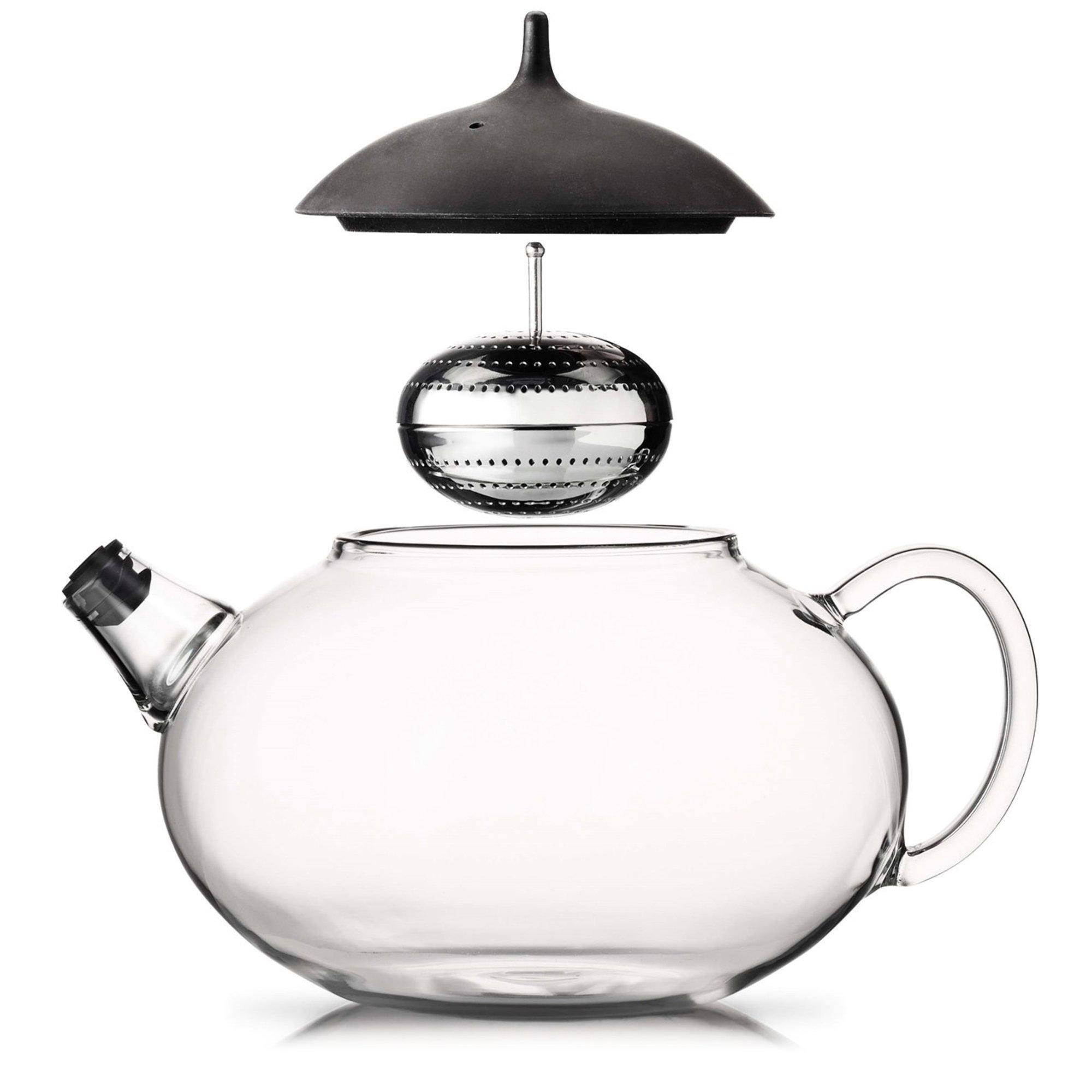 Glas tekande 1,0 L fra Eva Solo » Integreret teæg