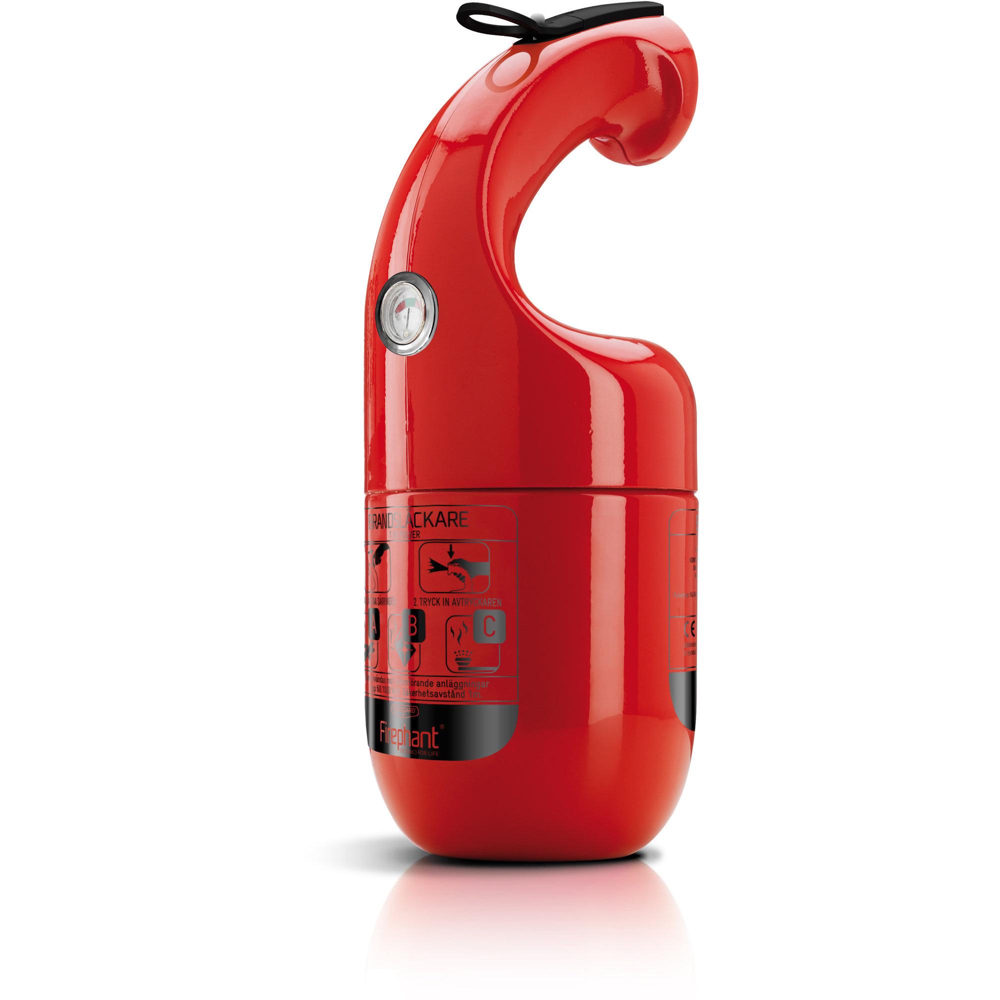 Firephant 8A34BC 1 kg Pulversläckare Röd