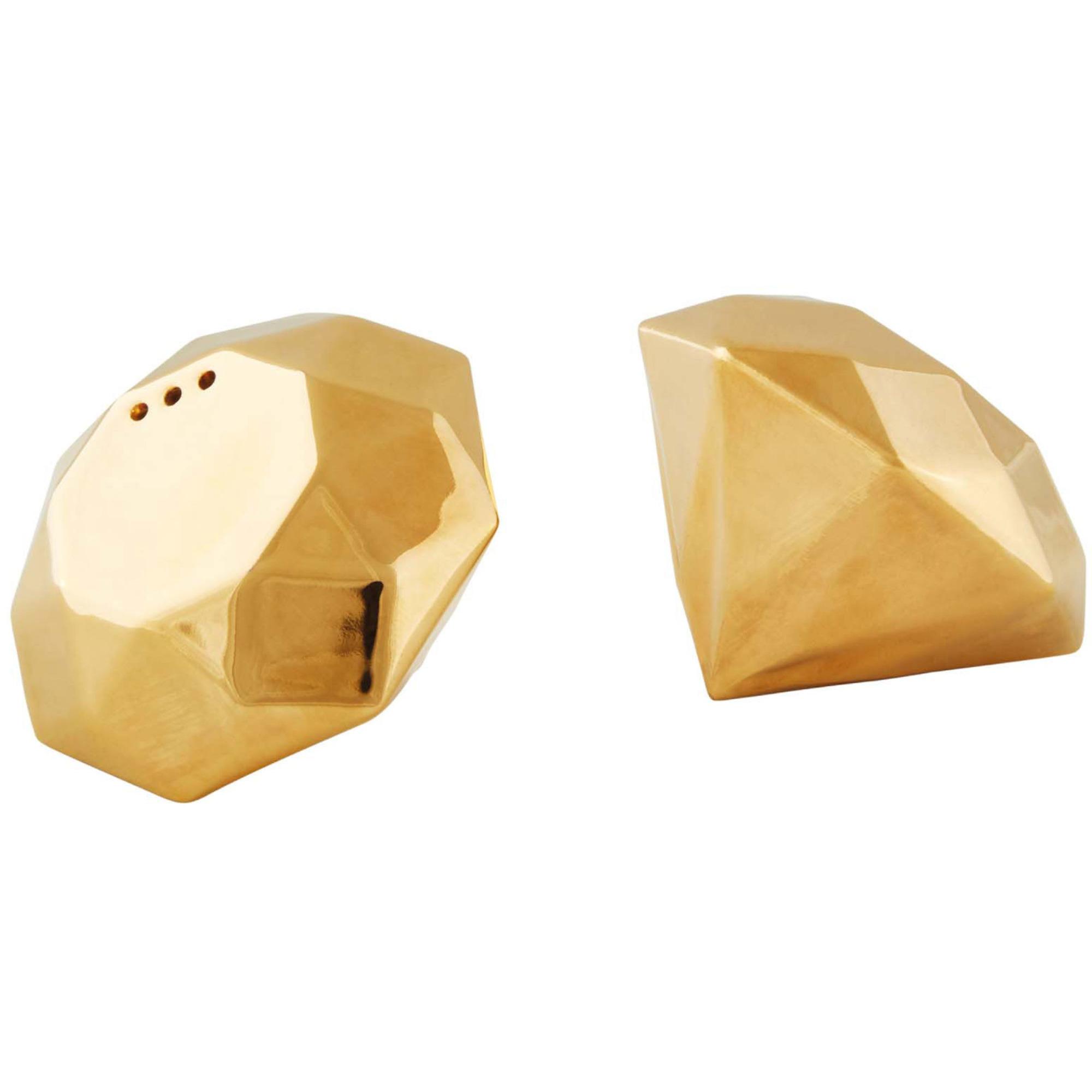 Fyrklövern Diamond Gold Salt- och pepparkar