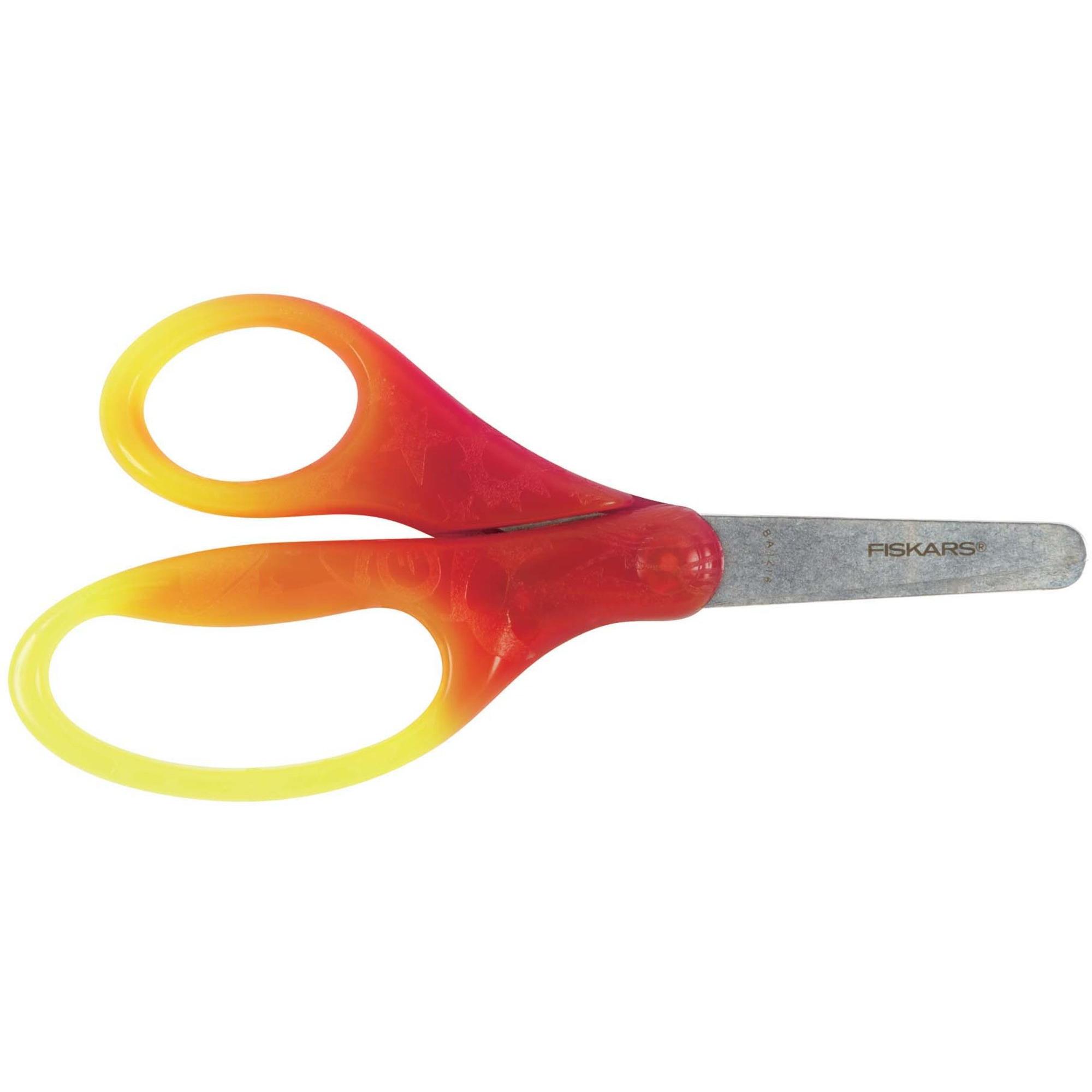 Fiskars Barnsax 12 cm färgskiftande röd/gul