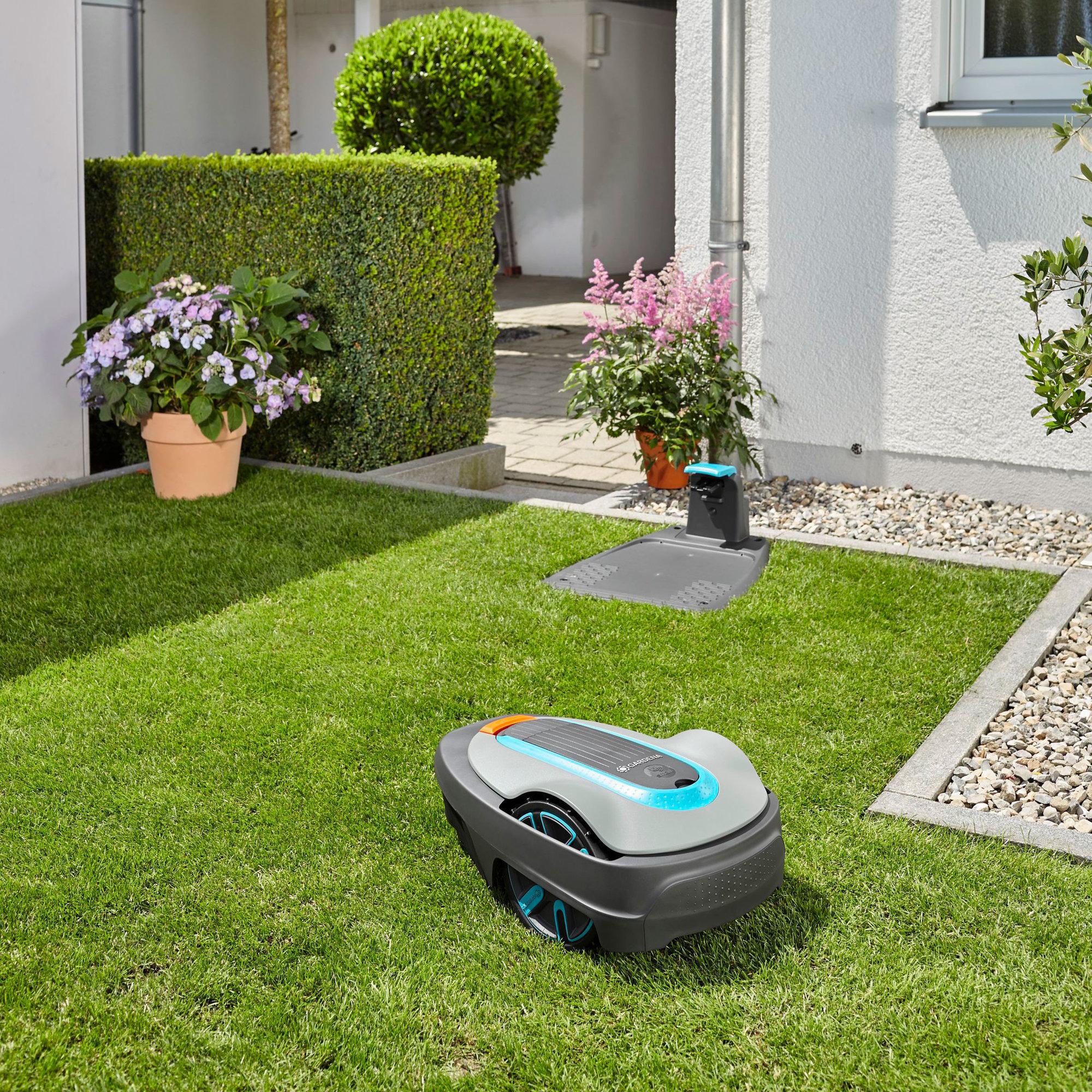 bestil sileno city 250 robotpl neklipper fra gardena. Black Bedroom Furniture Sets. Home Design Ideas