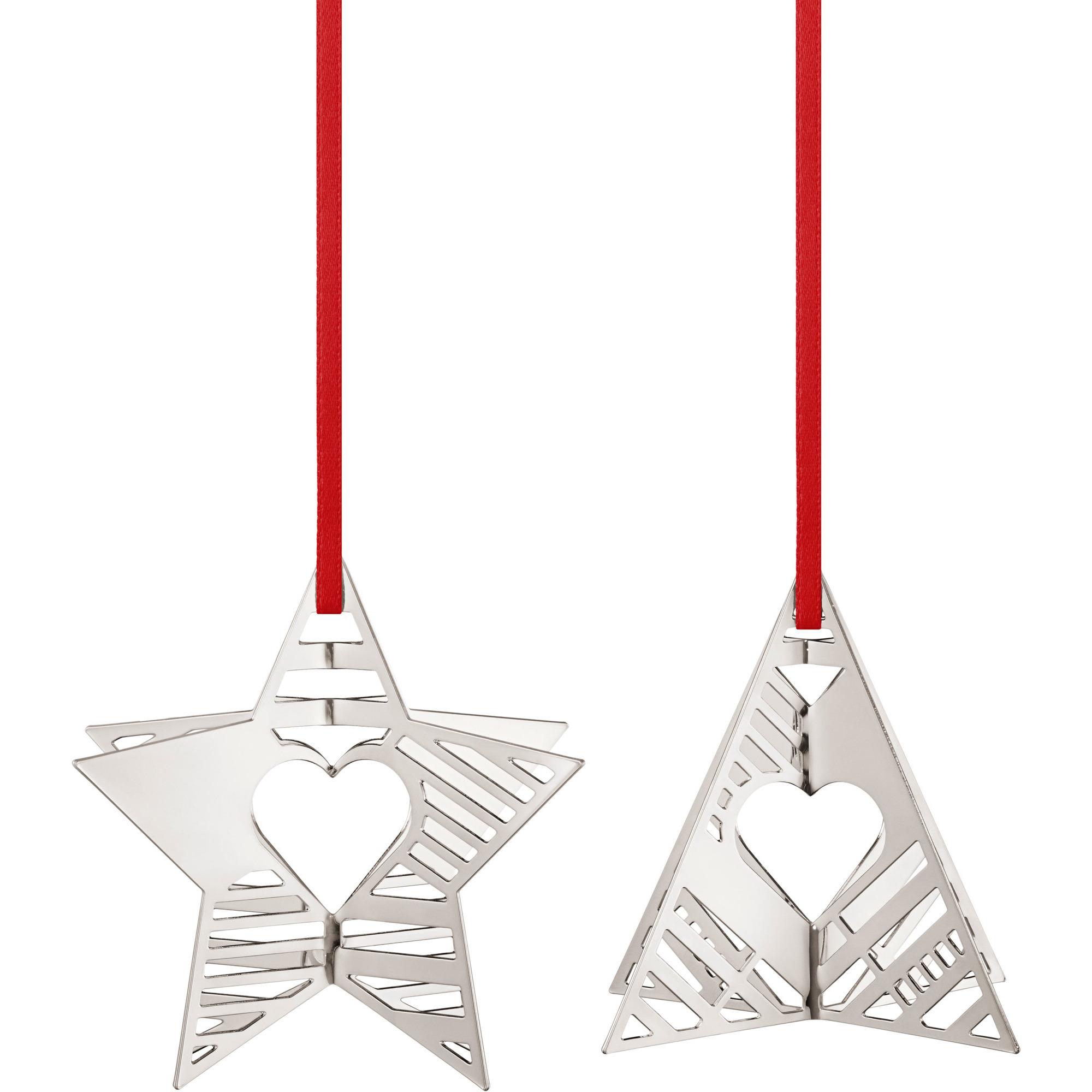 Georg Jensen 2019 Holiday Ornament Stjärna og Julgran