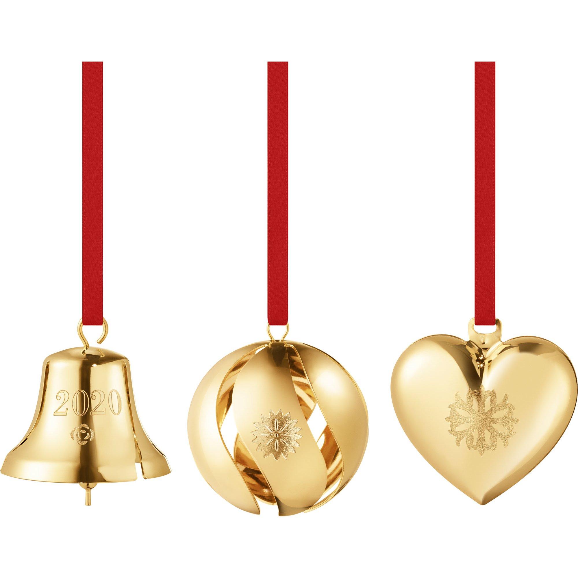 Georg Jensen 2020 presentpaket med julhängen guld