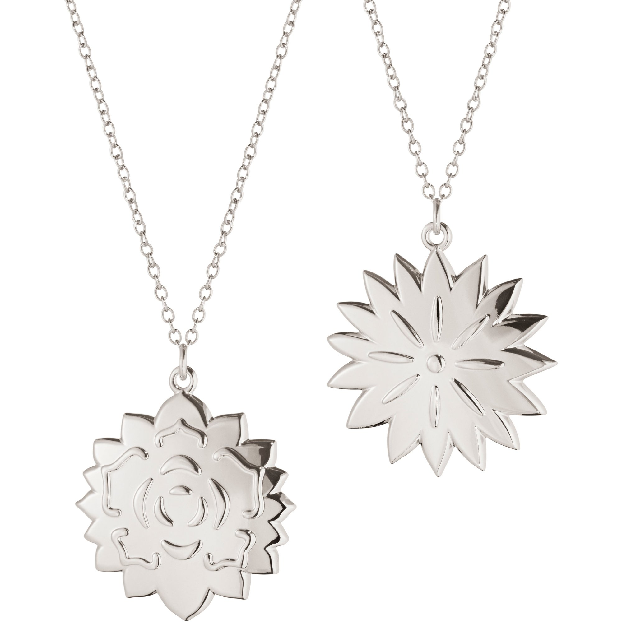 Georg Jensen 2020 Ornament Ice Dianthus & Rosette palladium