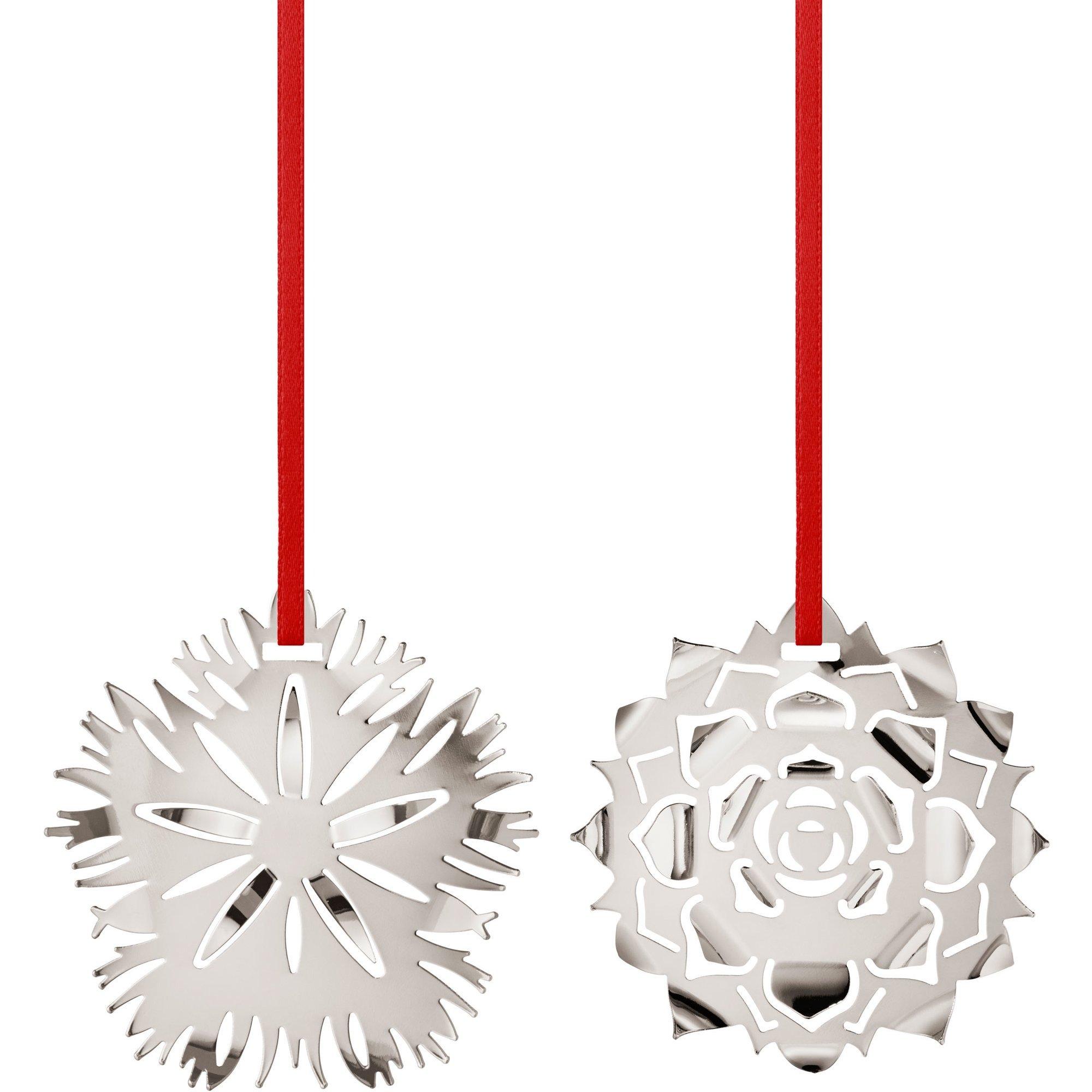 Georg Jensen 2020 Ornament Ice & Ice Rosette palladium