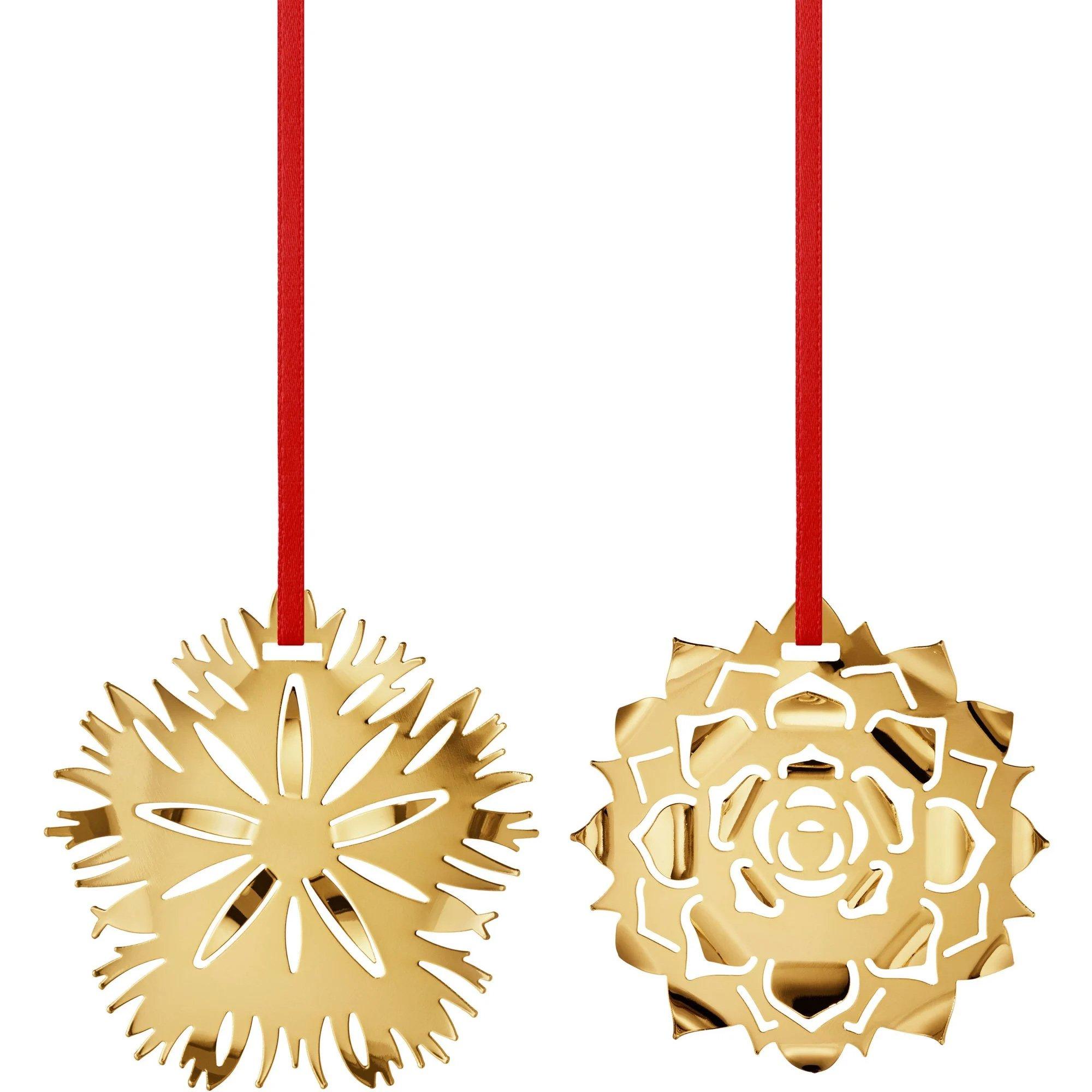 Georg Jensen 2020 Ornament Ice & Ice Rosette guld