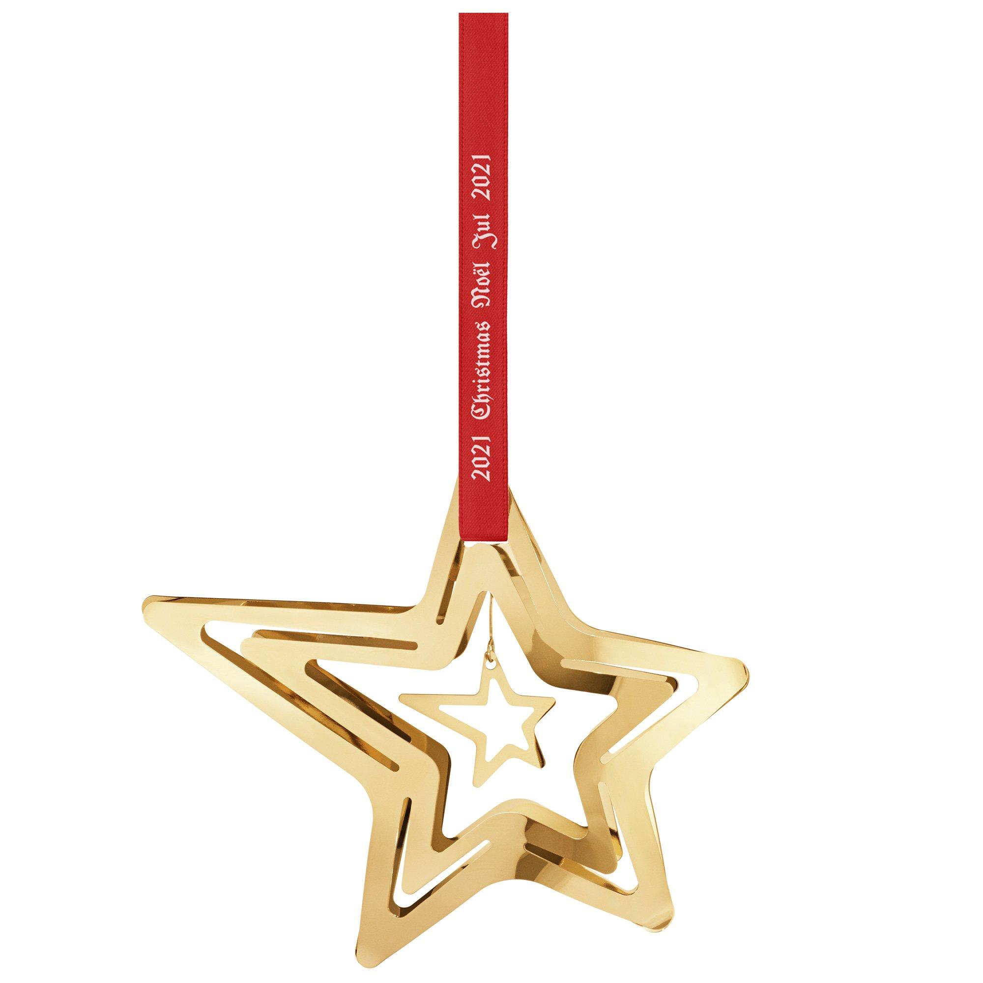Georg Jensen 2021 julstjärna stjärnfall, guld