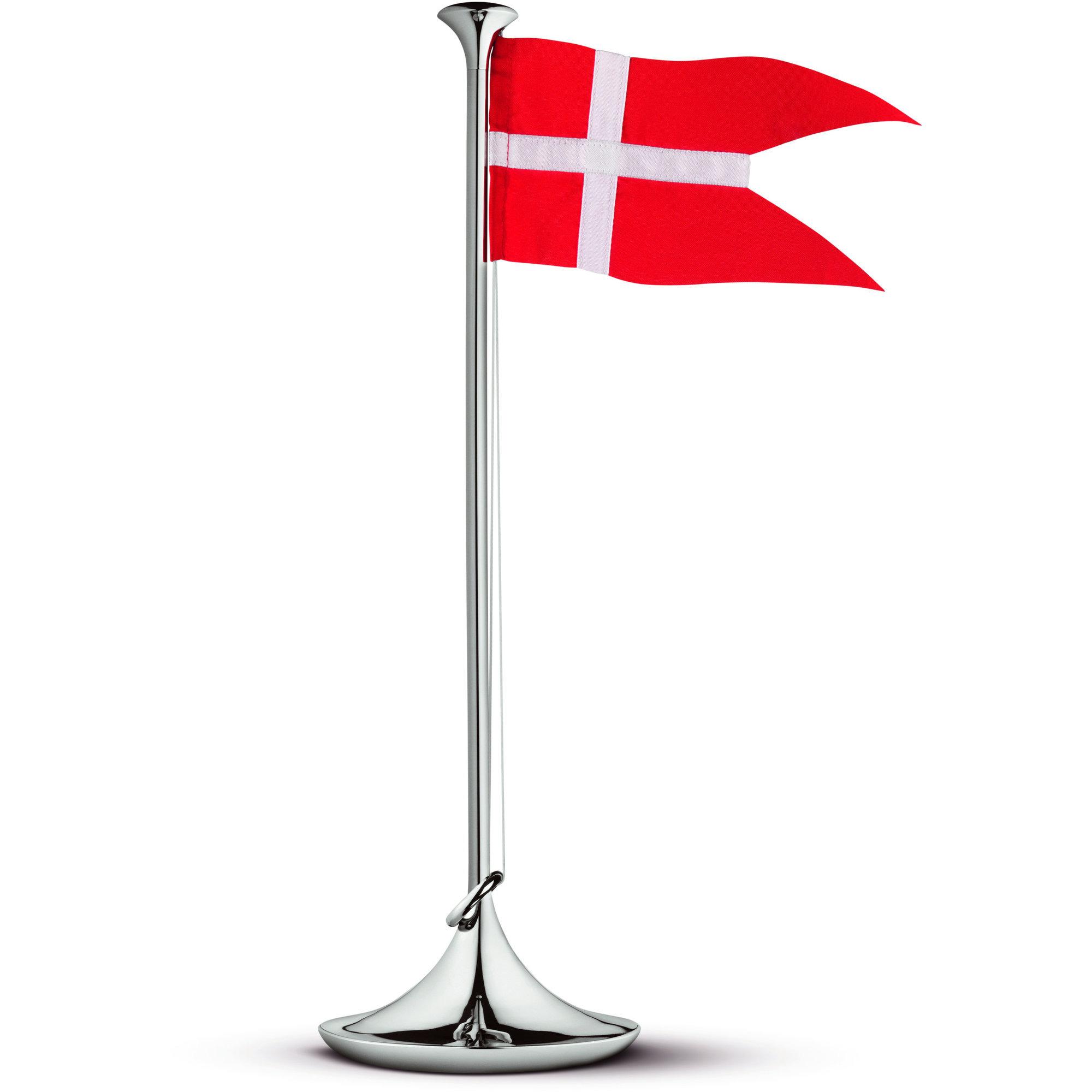 Georg Jensen Flaggstång Dansk Flagga