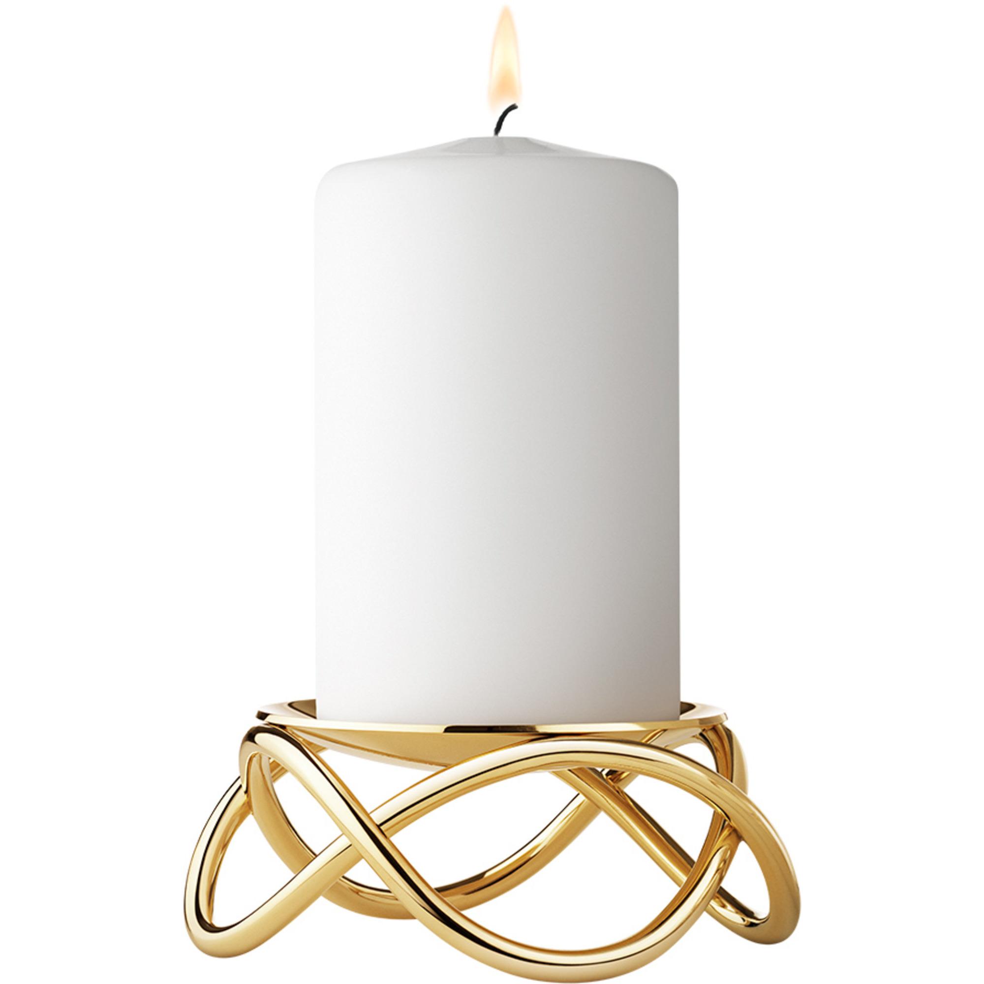 Georg Jensen Glow Ljusstake Förgyllt rostfritt stål Guld