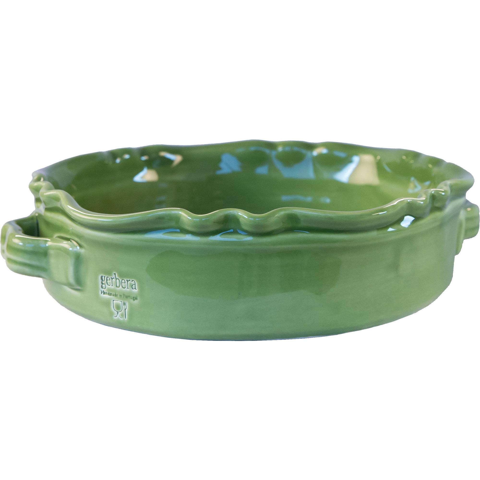 Gerbera Rund Gratängform Provence Mossgrön B: 24H: 7 cm