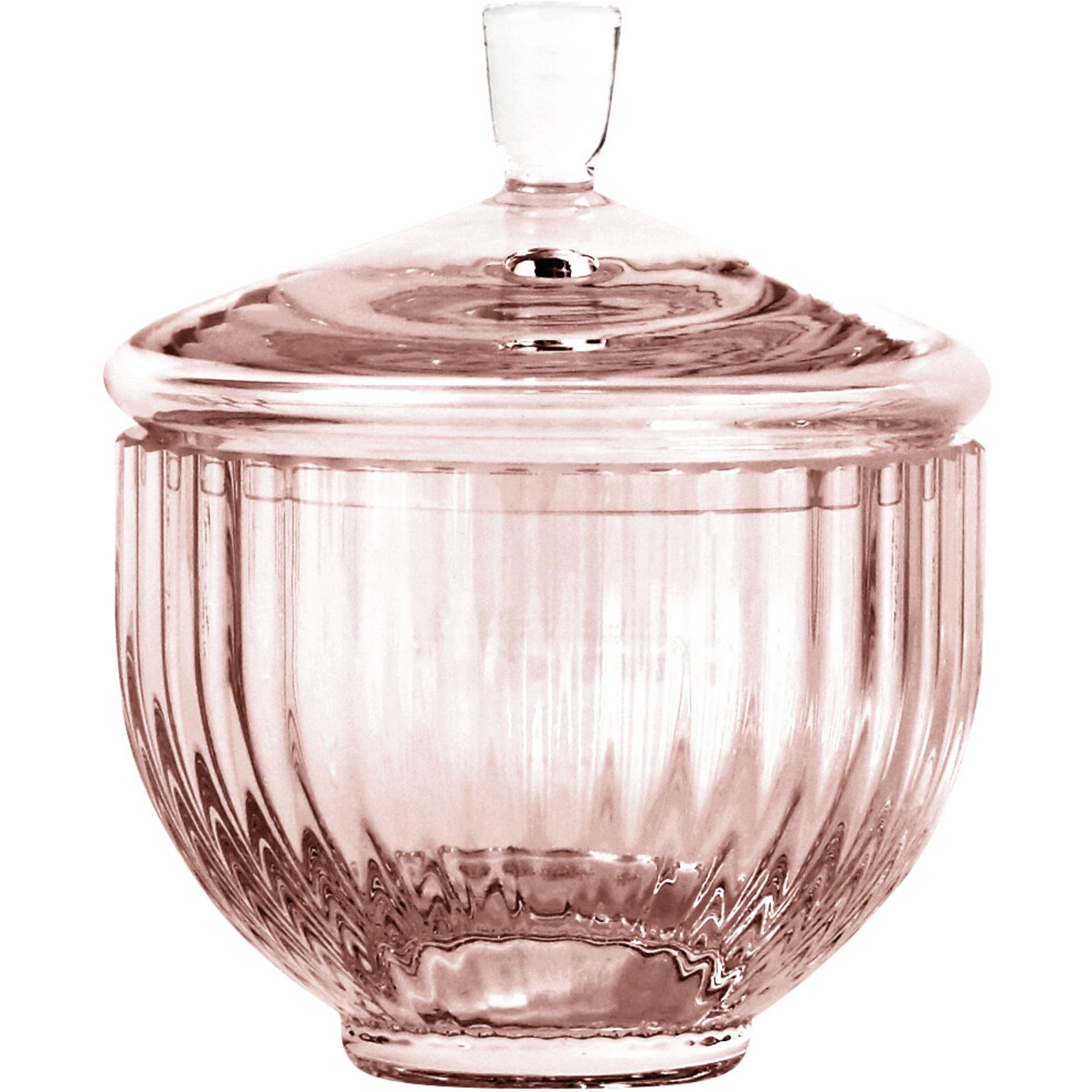 Lyngby Porcelæn Glas bonbonniere Ø 10 cm. burgundy