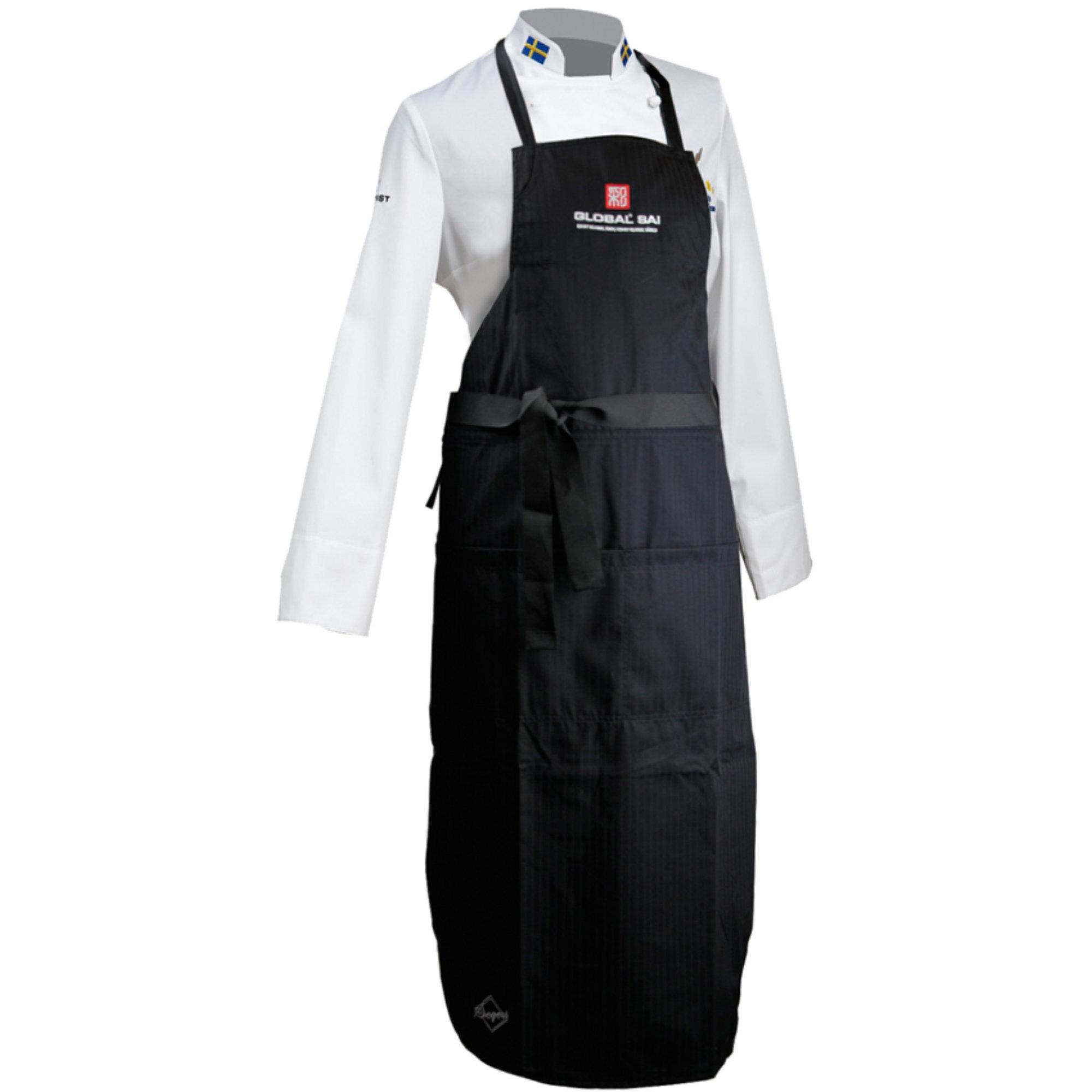 Global SAI Bröstlappsförkläde med logga på fickan