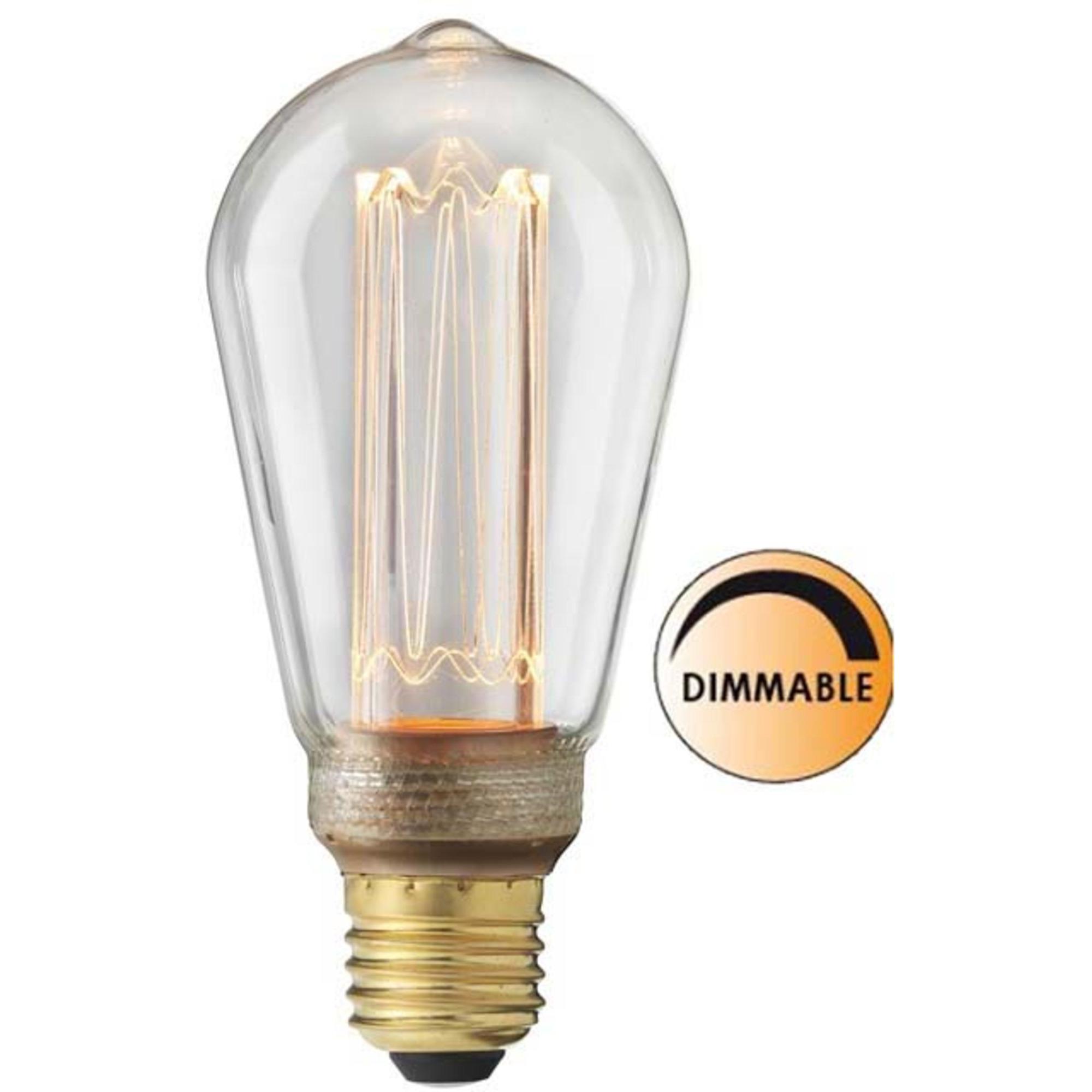 Globen Lighting Ljuskälla Laser LED Filament DimbaKlar Uniterm E27
