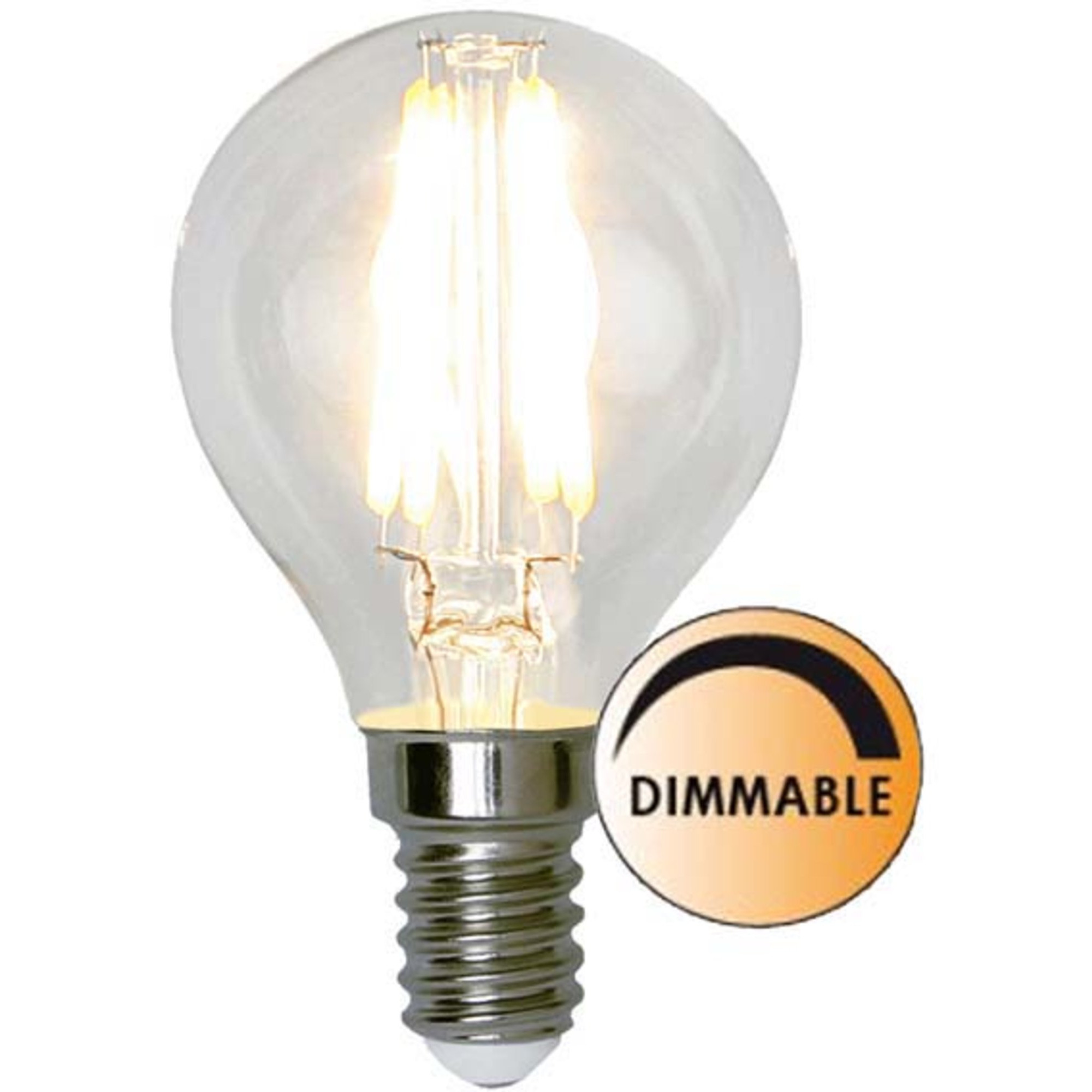 Globen Lighting Ljuskälla LED 351-23 Filament Klot Klar 5W Dimbar E14