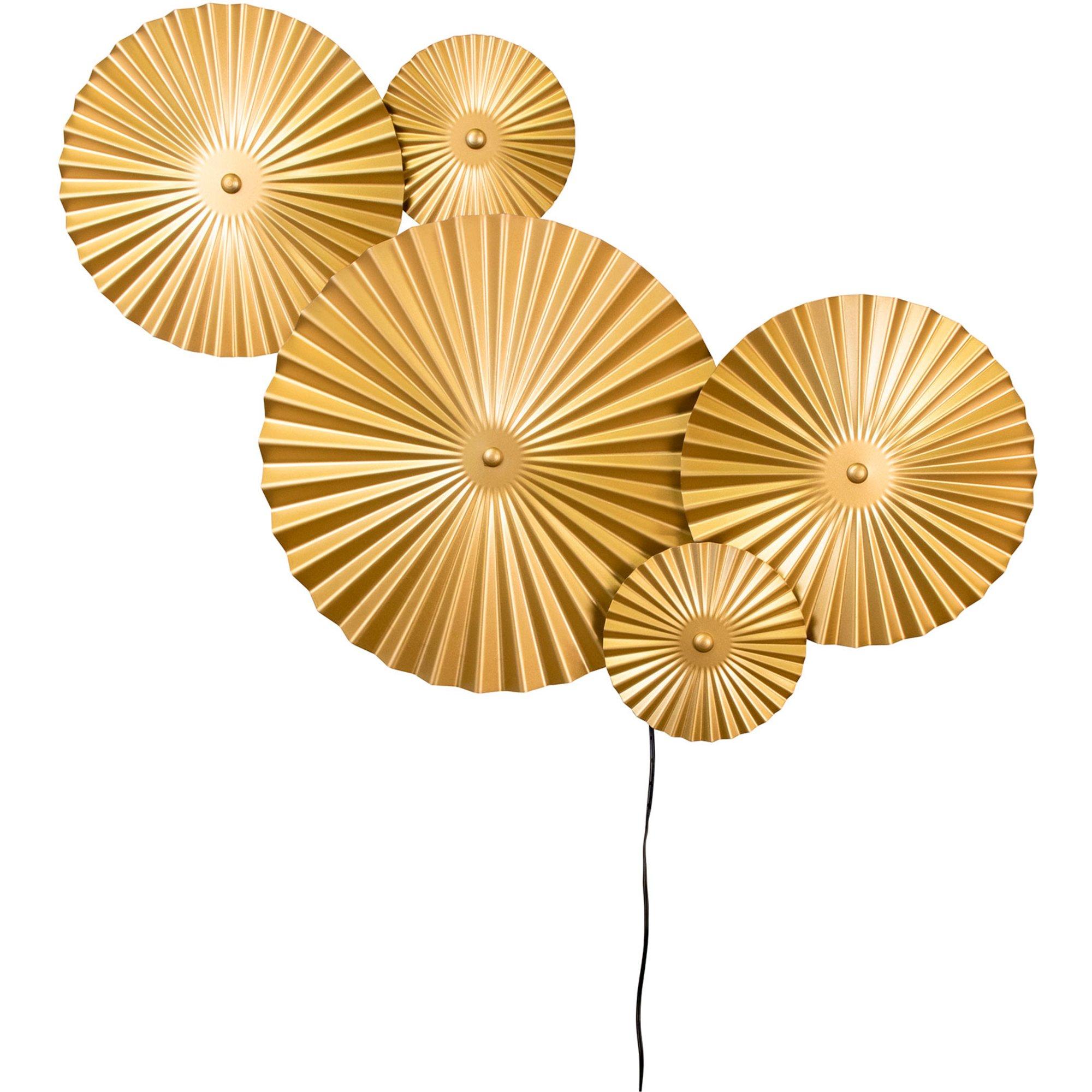Globen Lighting Omega Vägglampa borstad mässing