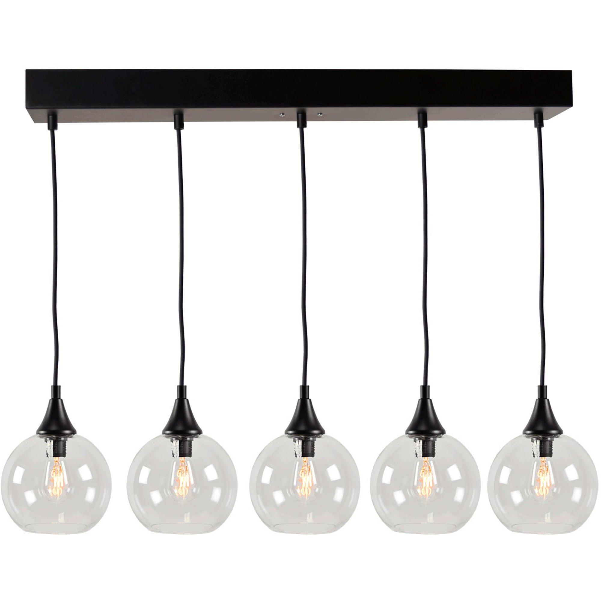 Globen Lighting Pallas Pendel 5 klar/svart