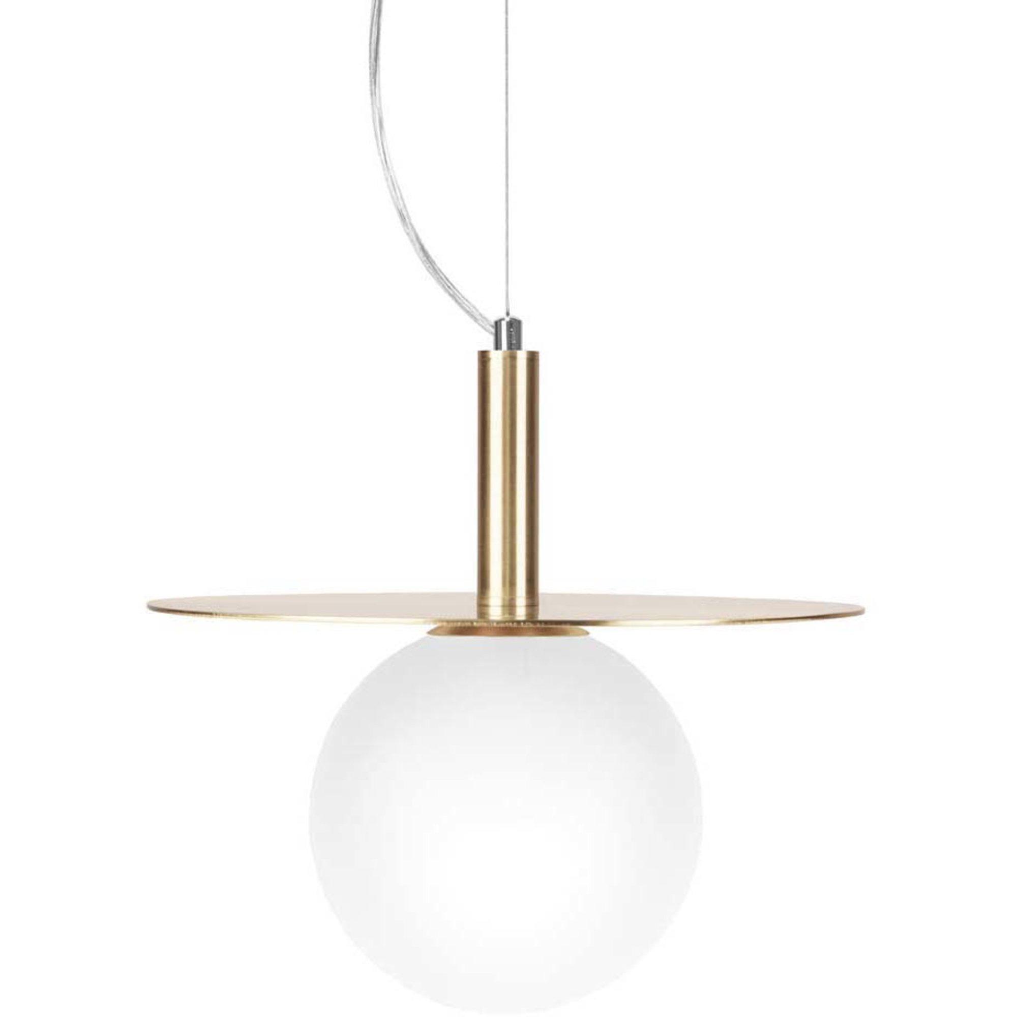 Globen Lighting Pendel Art Deco Borstad Mässing