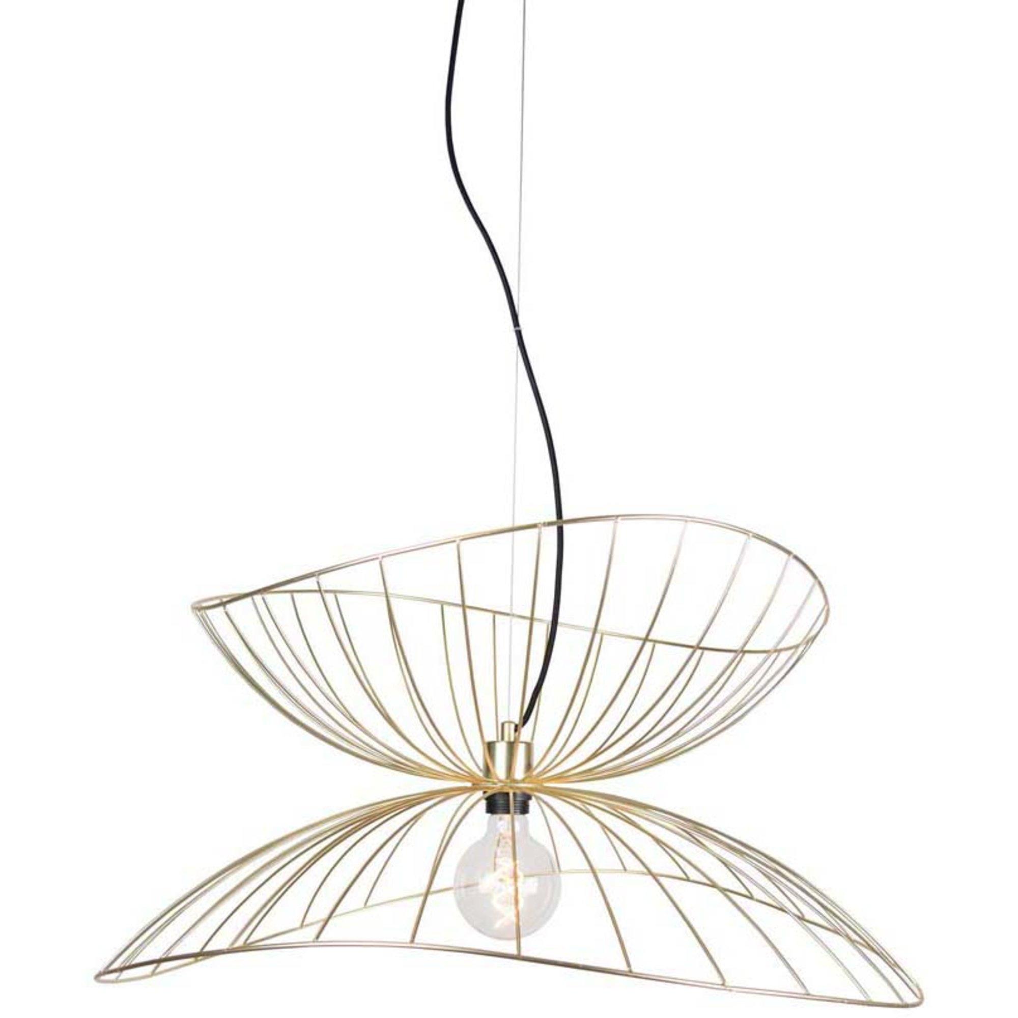 Globen Lighting Pendel Ray 70 Borstad Mässing
