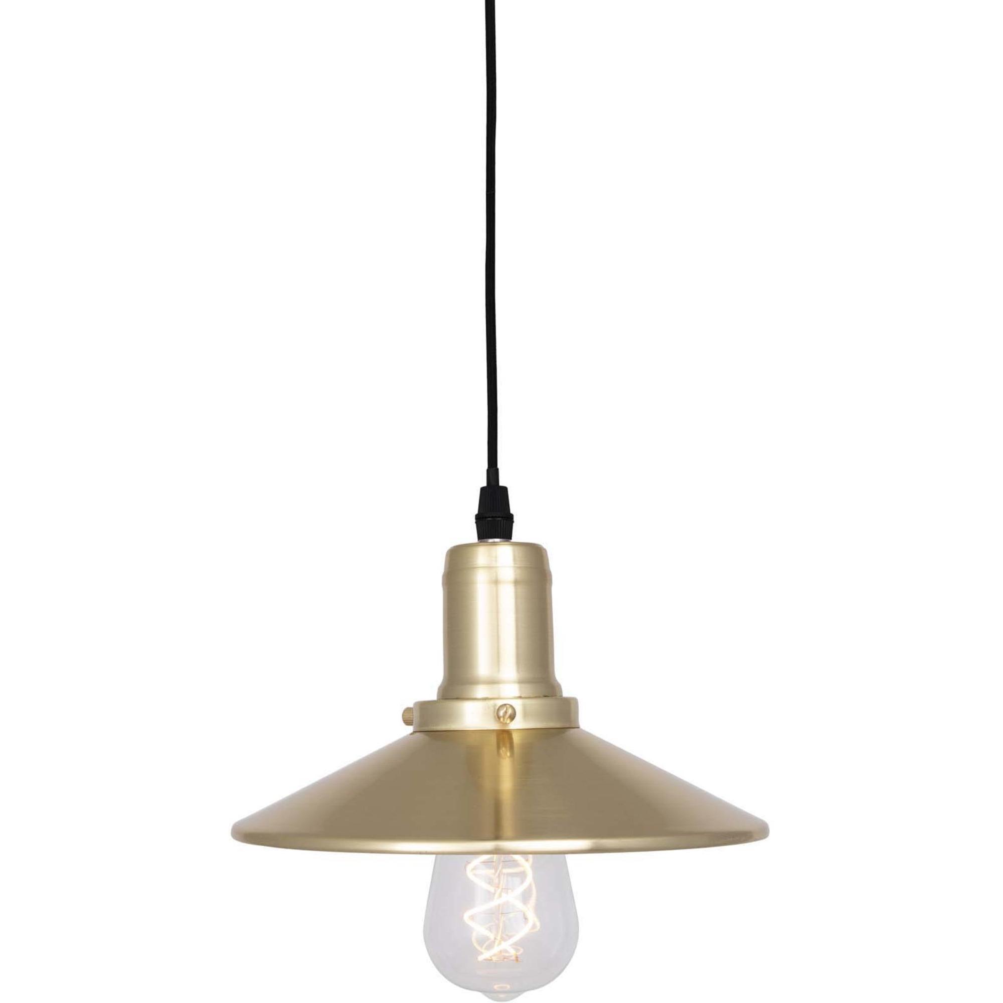 Globen Lighting Pendel Disc Mini Borstad Mässing
