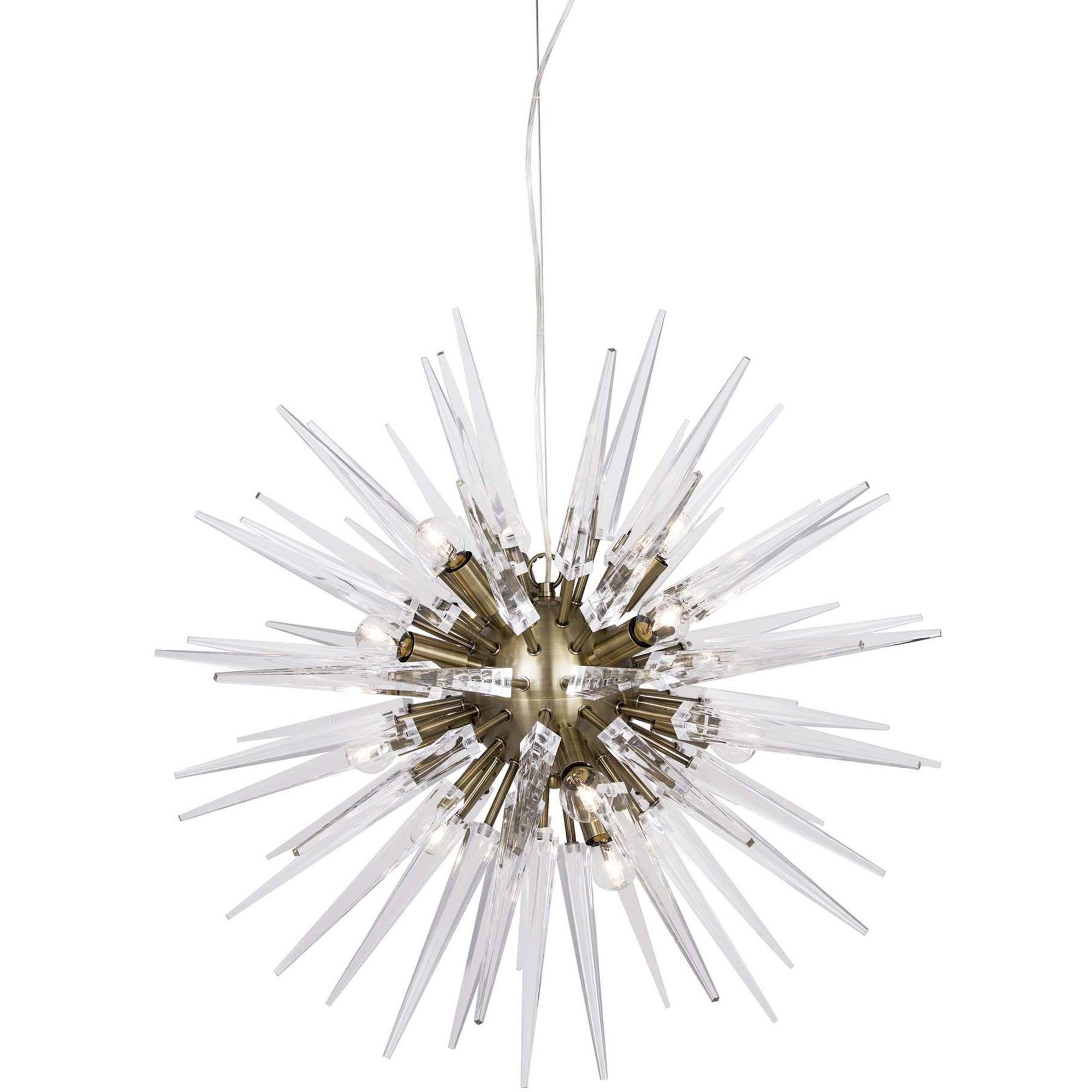Globen Lighting Pendel Polaris Klar/Borstad Mässing