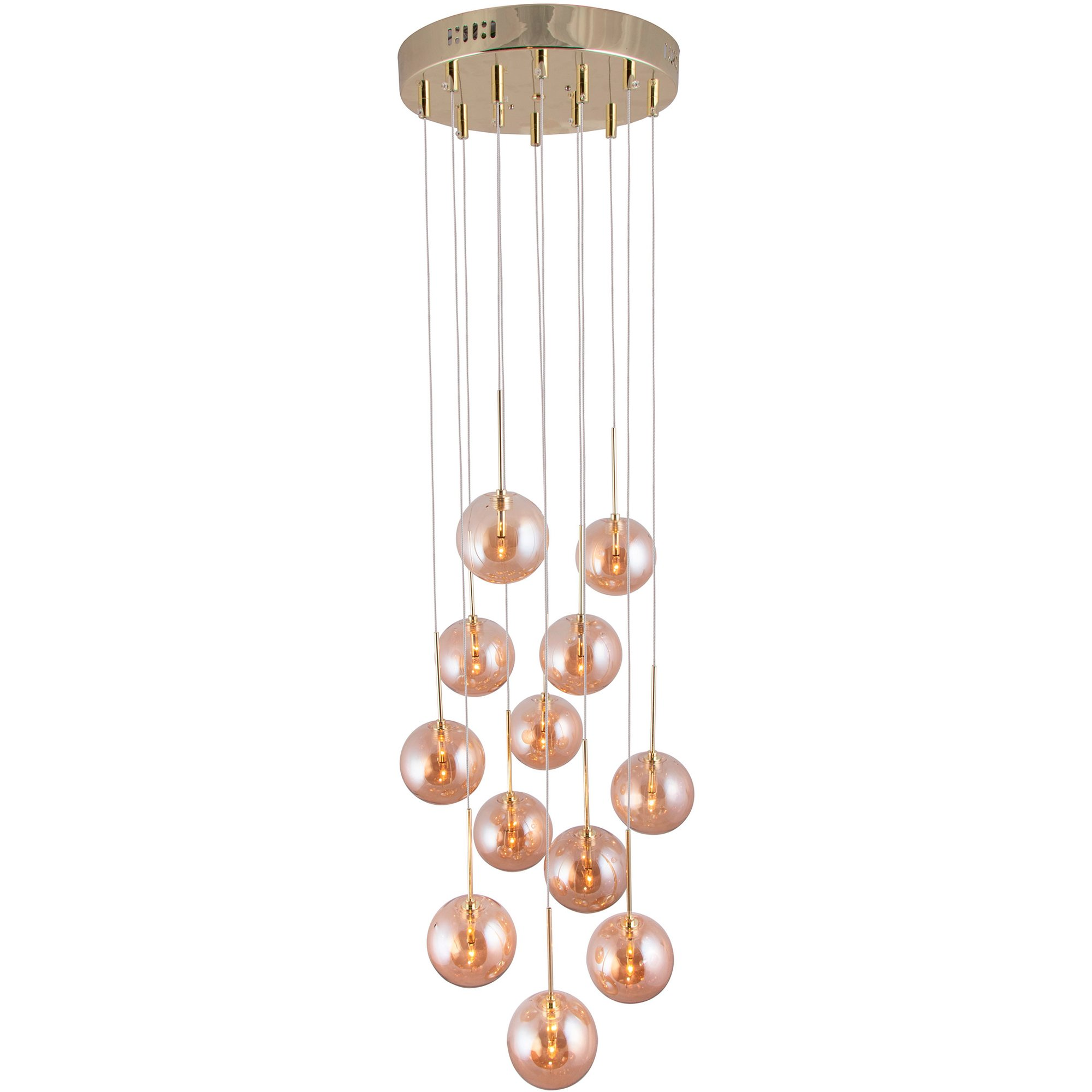 Globen Lighting Skyfall Pendel amber