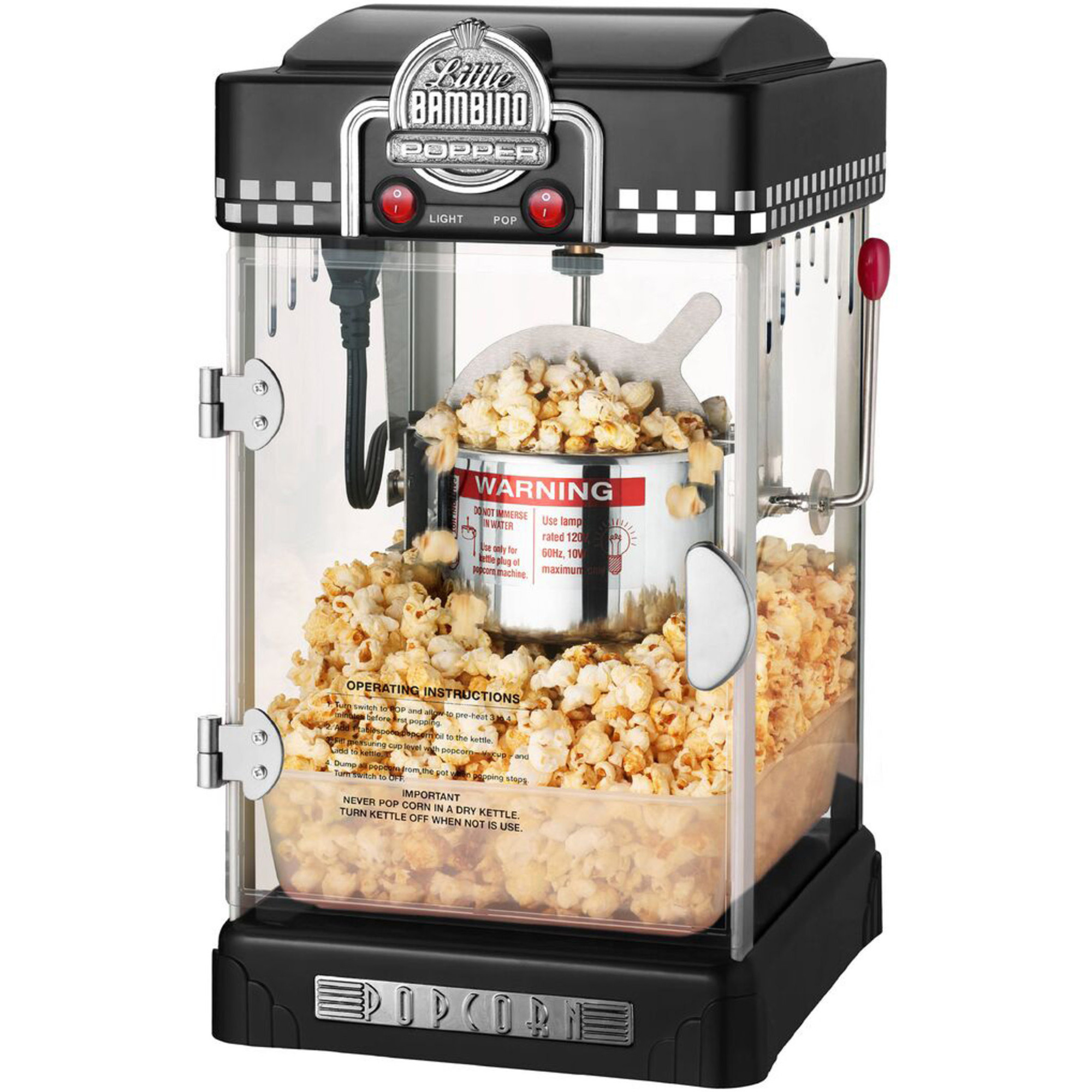 Great Northern Popcornmaskin Little Bambino 2-3 liter Svart