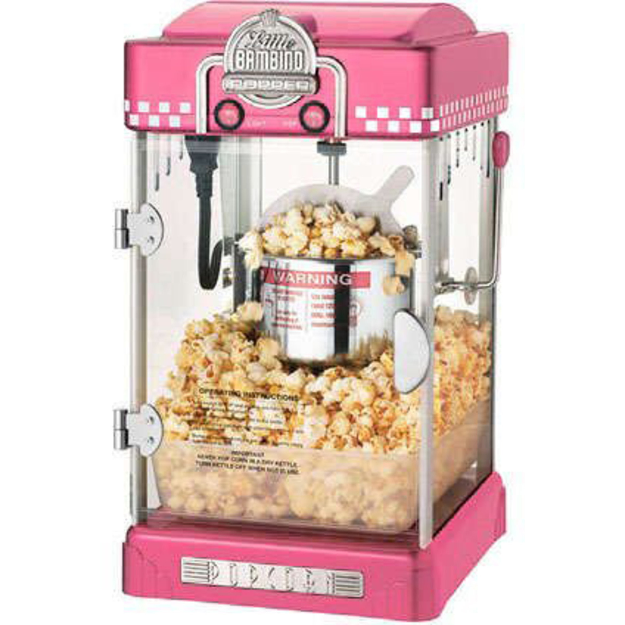 Great Northern Popcornmaskin Little Bambino 2-3 liter Rosa