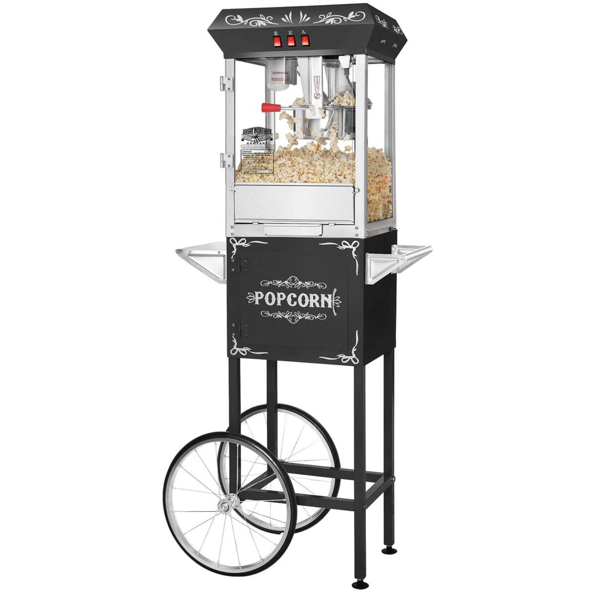 Great Northern Popcornvagn All Star 8-10 liter Svart