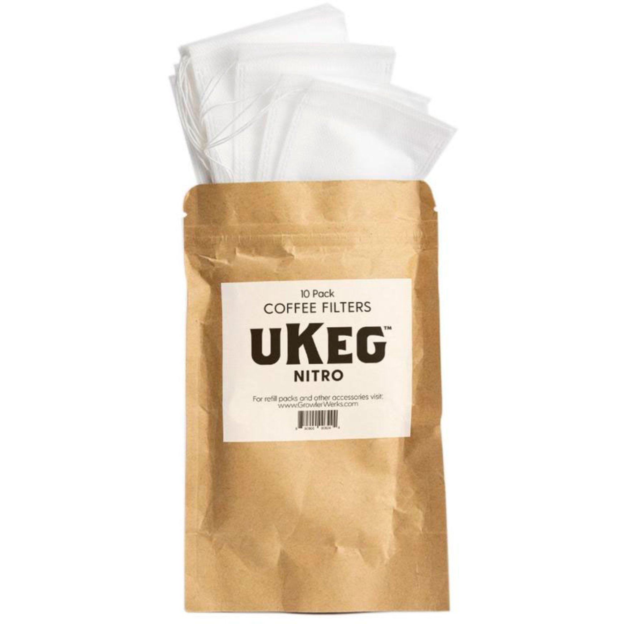 GrowlerWerks uKeg Nitro Kaffefilter (10-pack)