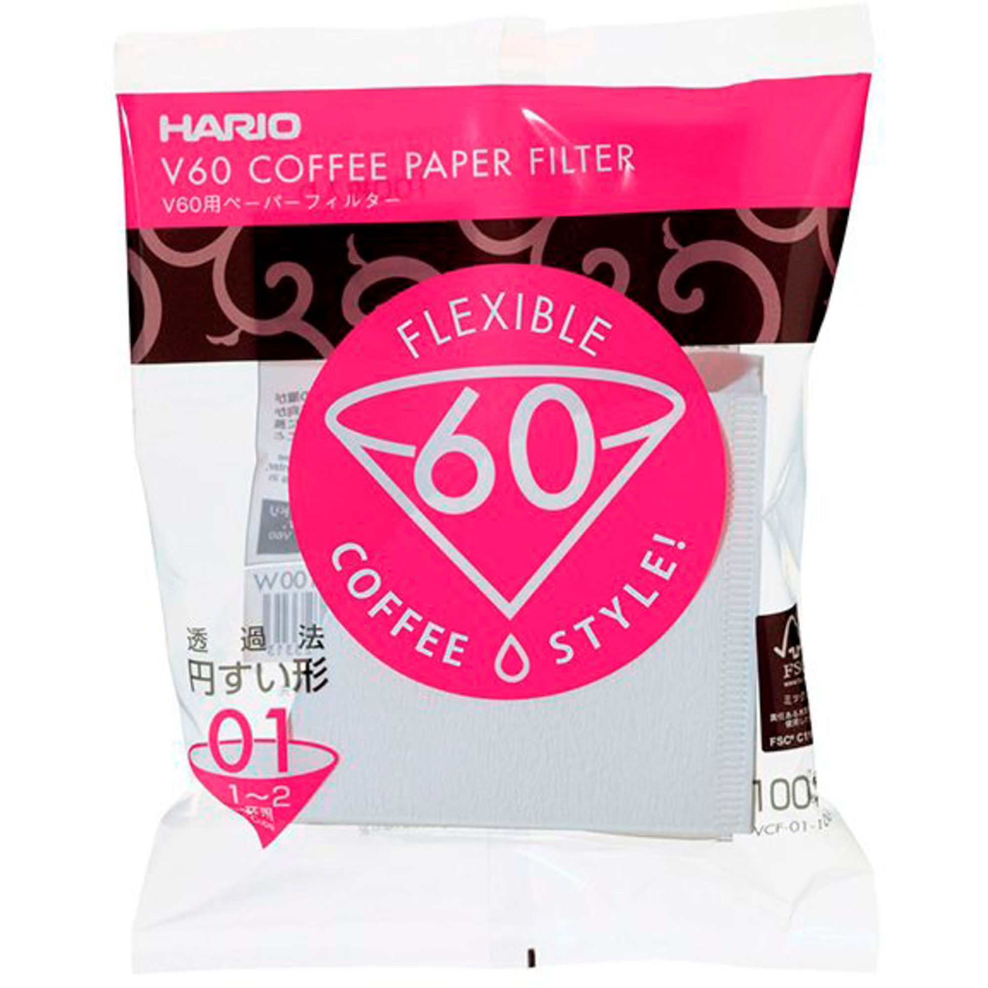 Hario Papir Filter 1 Cup 100 stk.