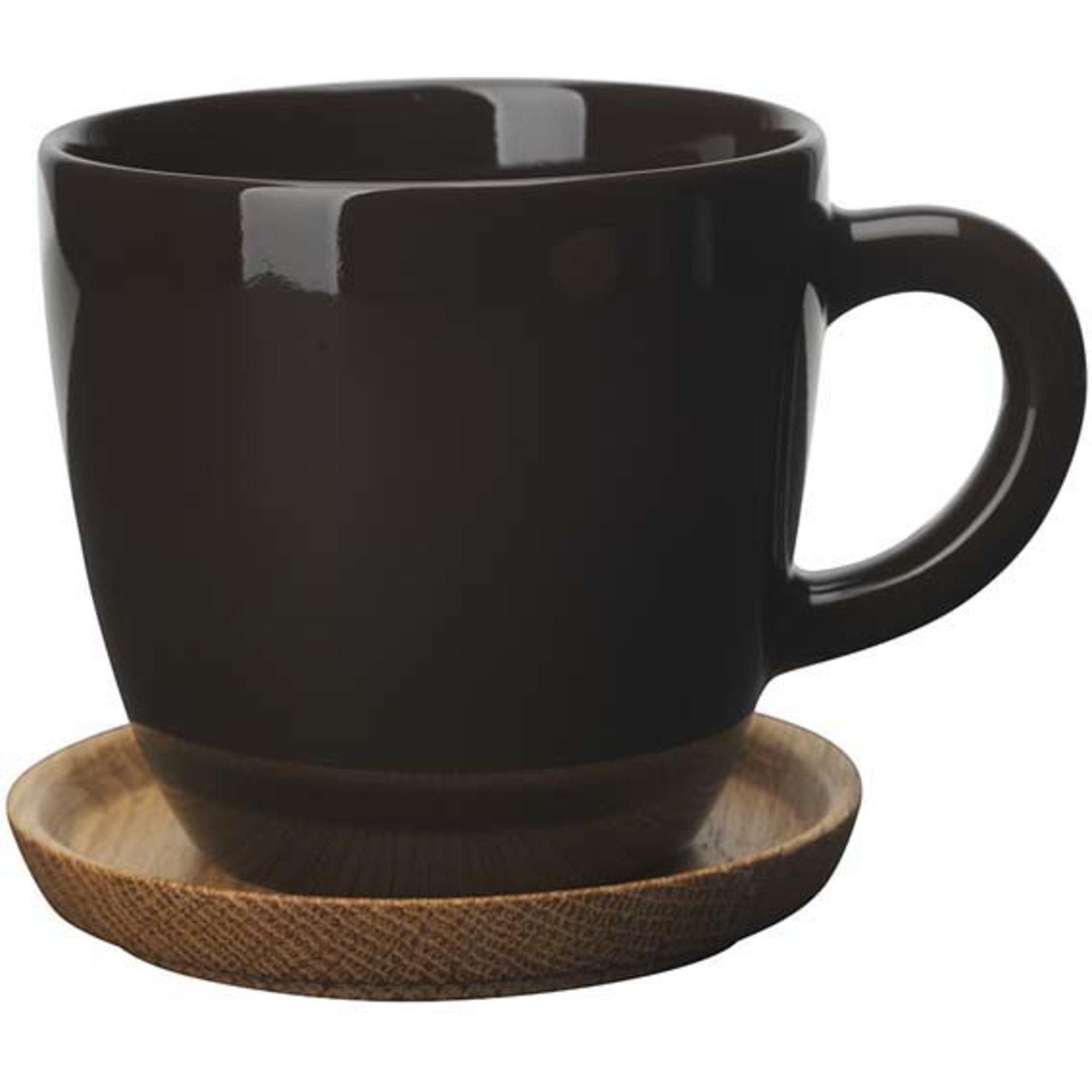 Höganäs Keramik kaffemugg 33 cl med träfat bark