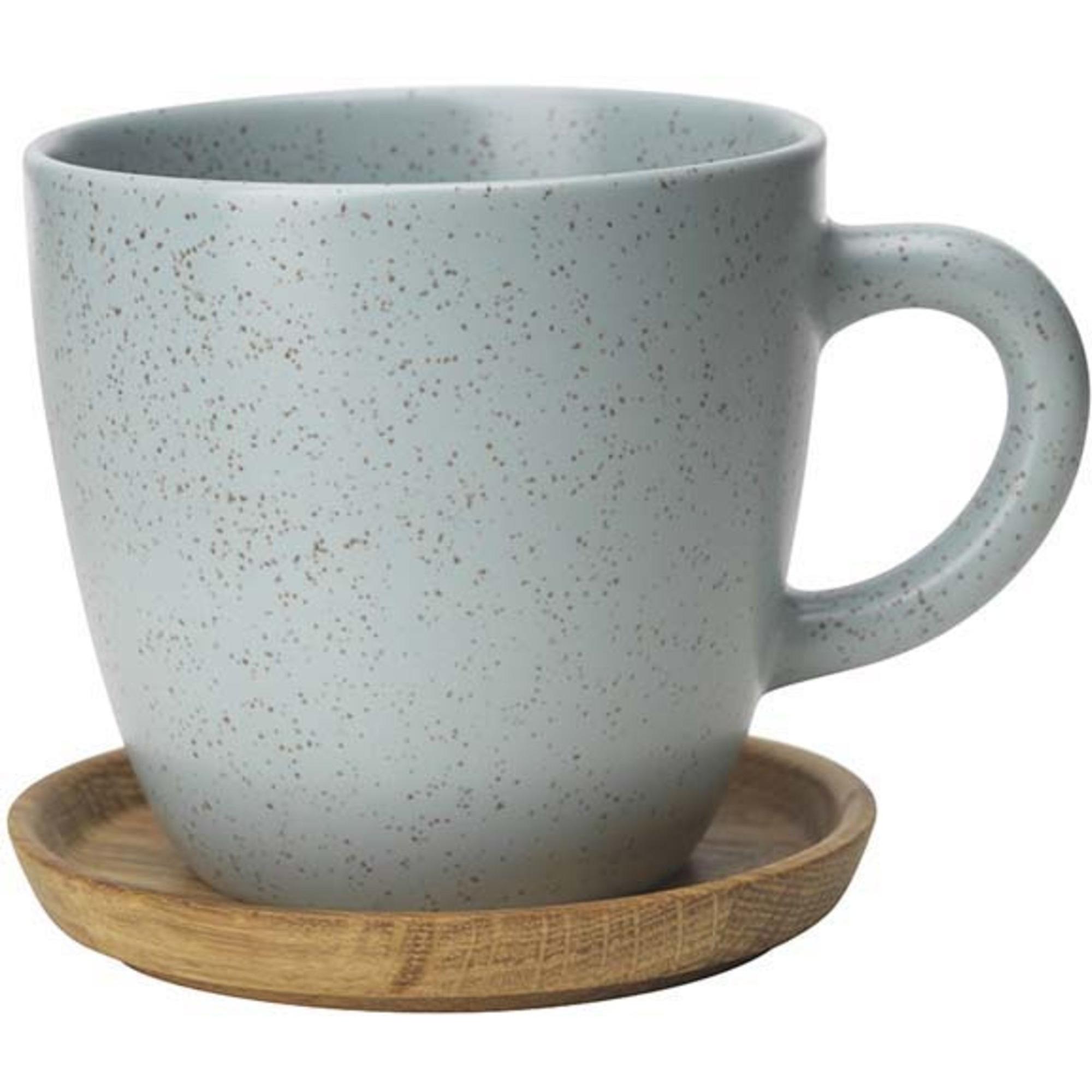 Höganäs Keramik kaffemugg 33 cl med träfat frost