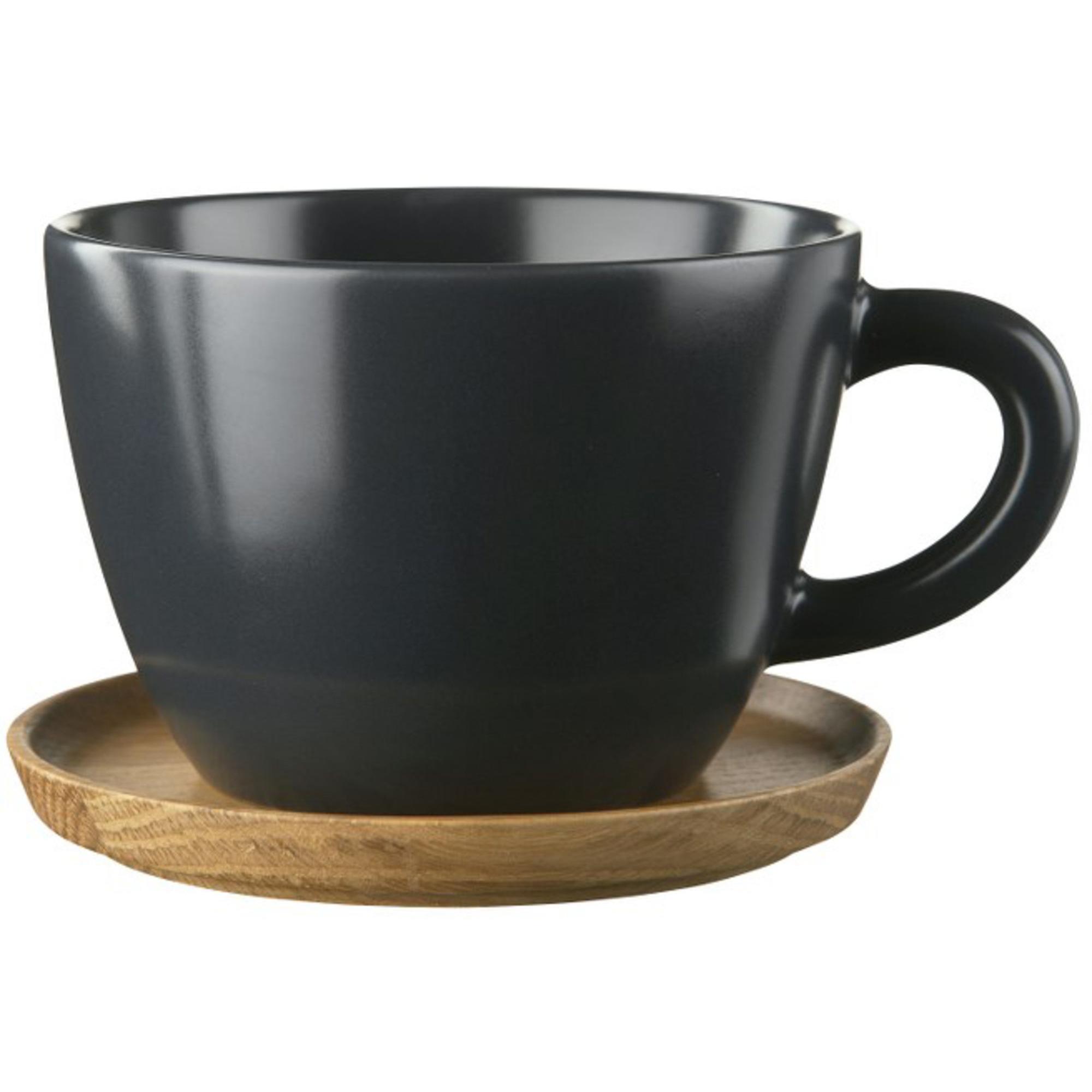 Höganäs Keramik Temugg 50 cl med Träfat GrafitgråMatt