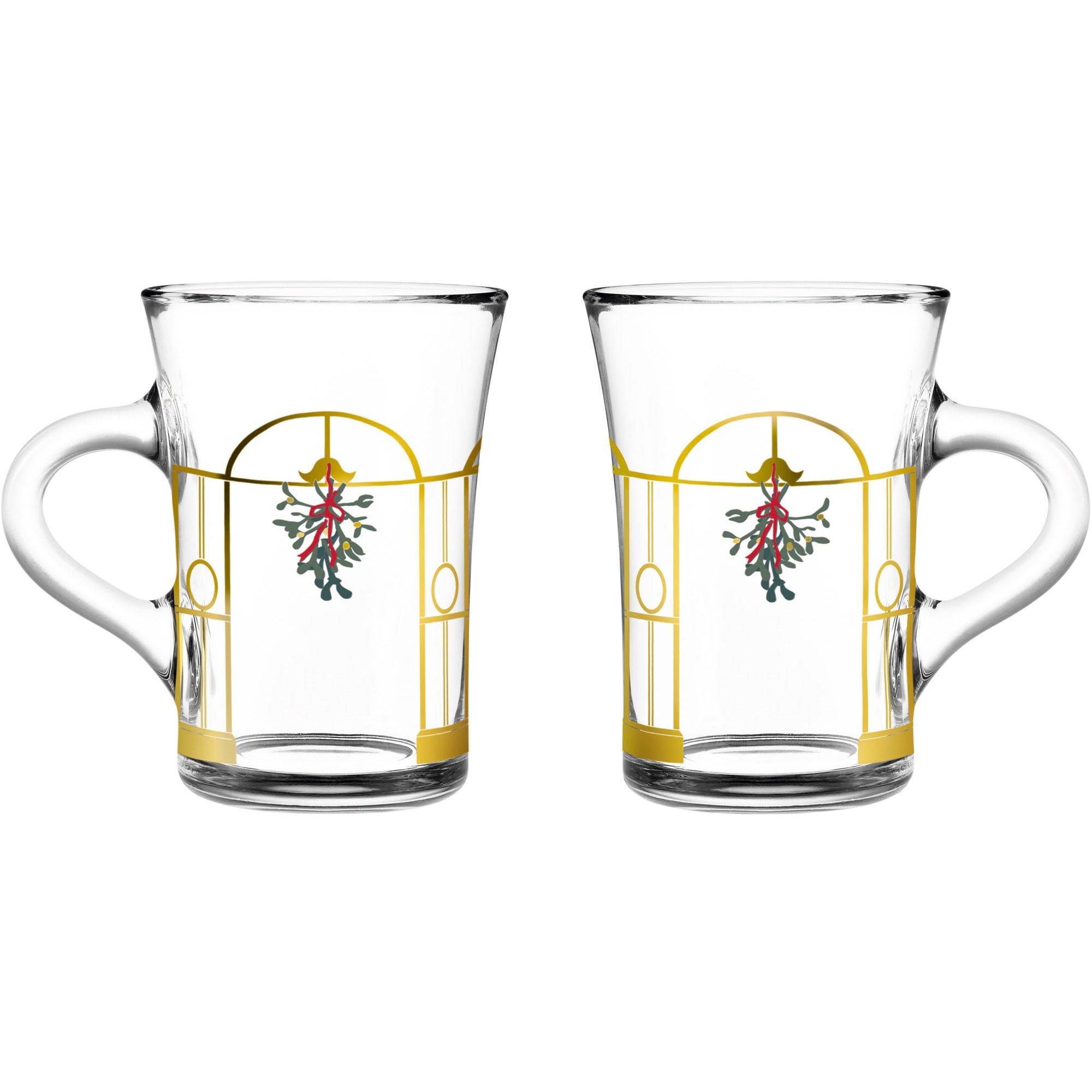 Holmegaard Christmas Julmugg av glas 2 st