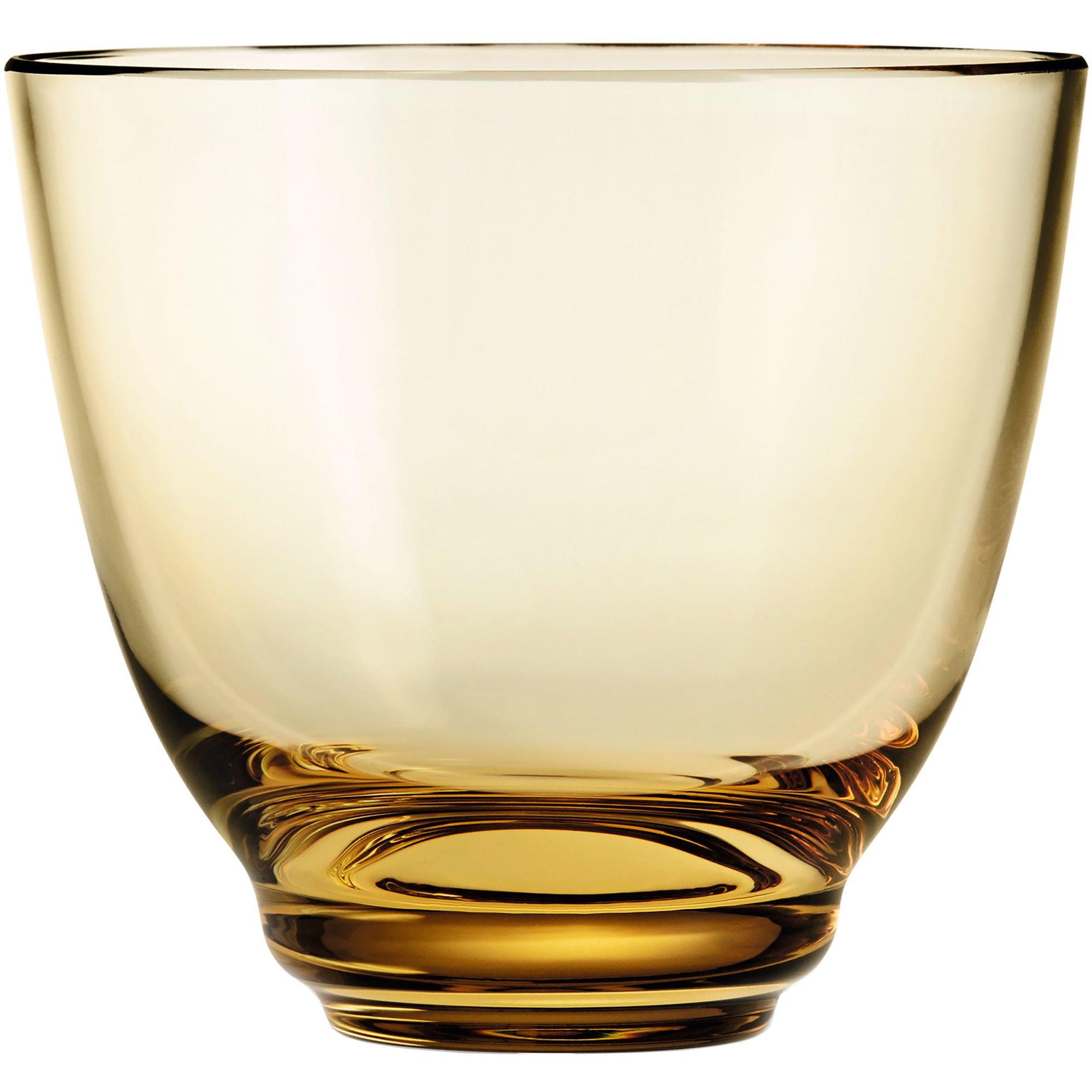 Holmegaard Flow vattenglas 35 cl. bärnsten