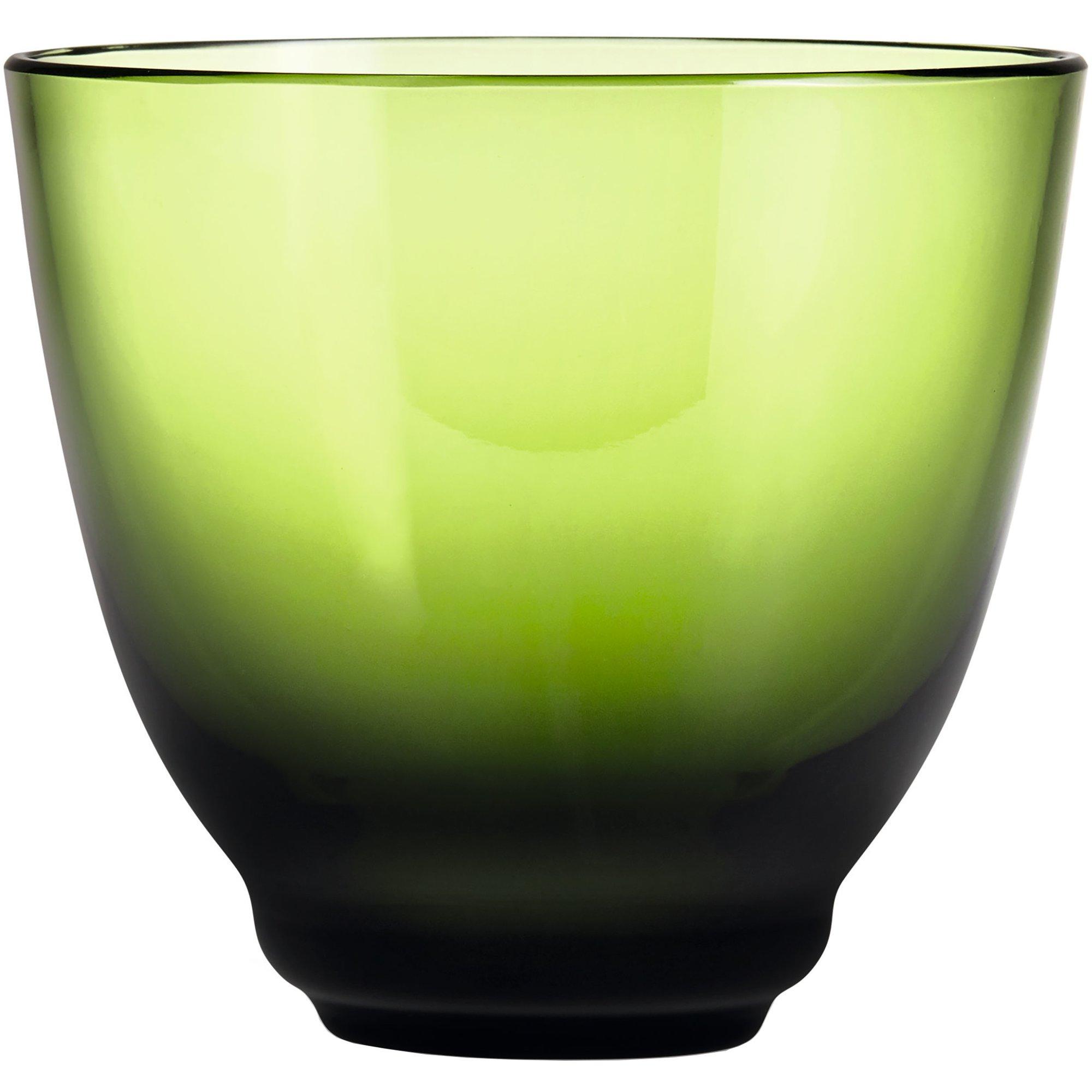 Holmegaard Flow vattenglas 35 cl. olivgrön
