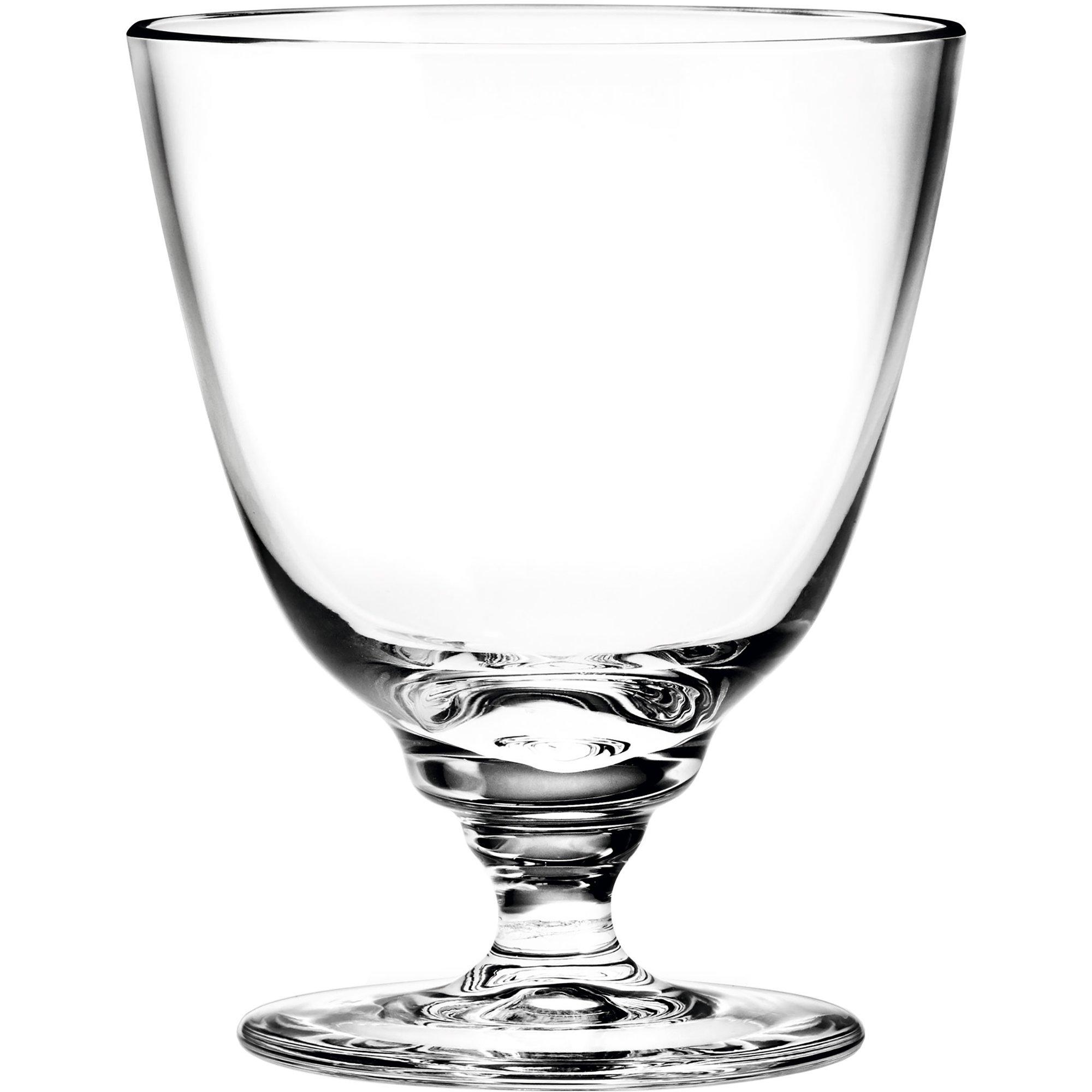 Holmegaard Flow vattenglas på fot 35 cl.
