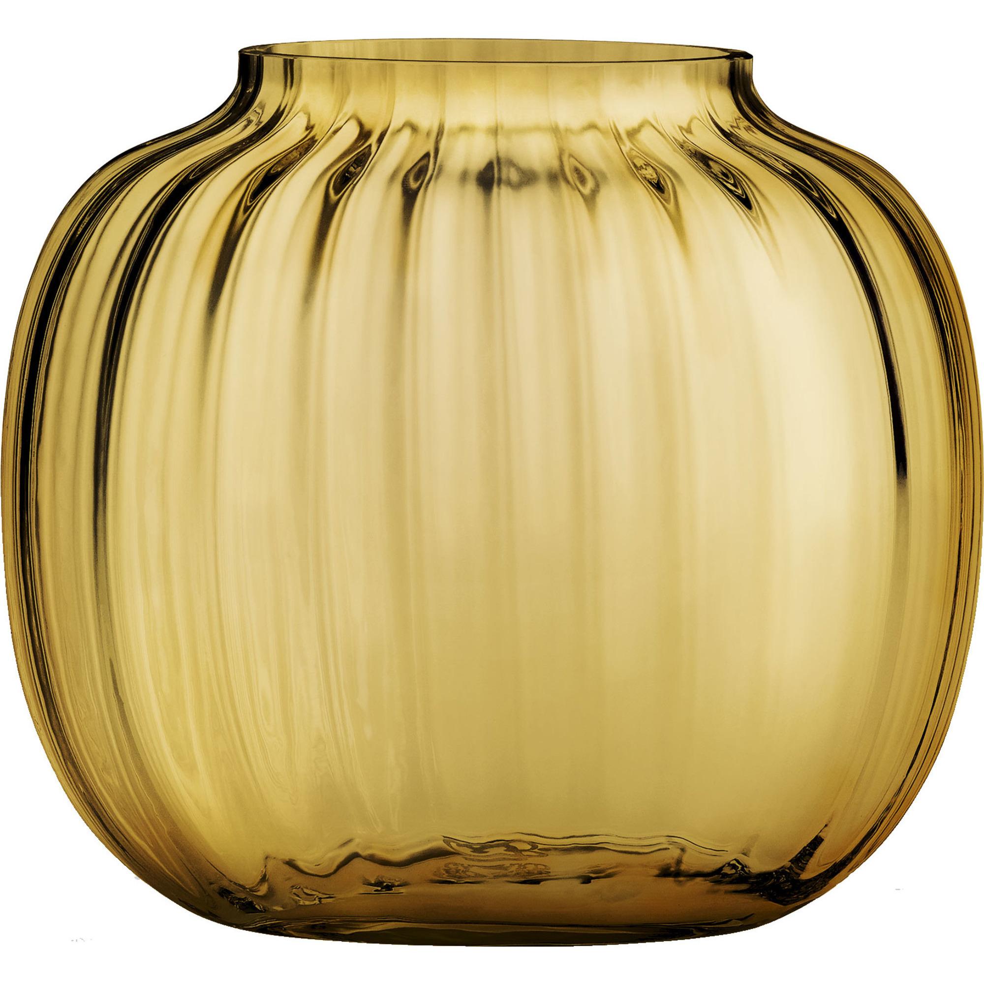 Holmegaard Primula vas, 12,5 cm., amber