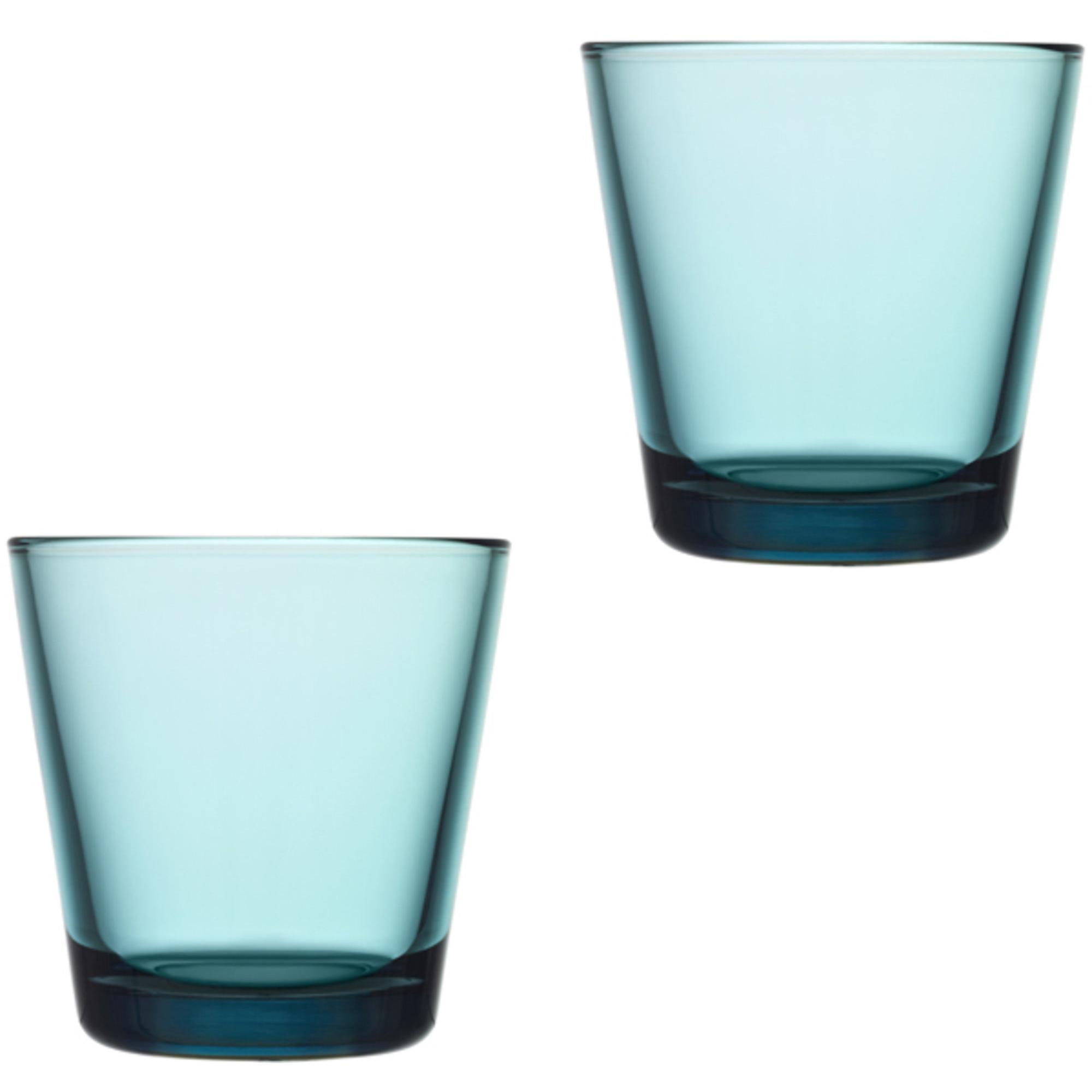 Iittala Kartio Glas 21 cl Havsblå 2-pack
