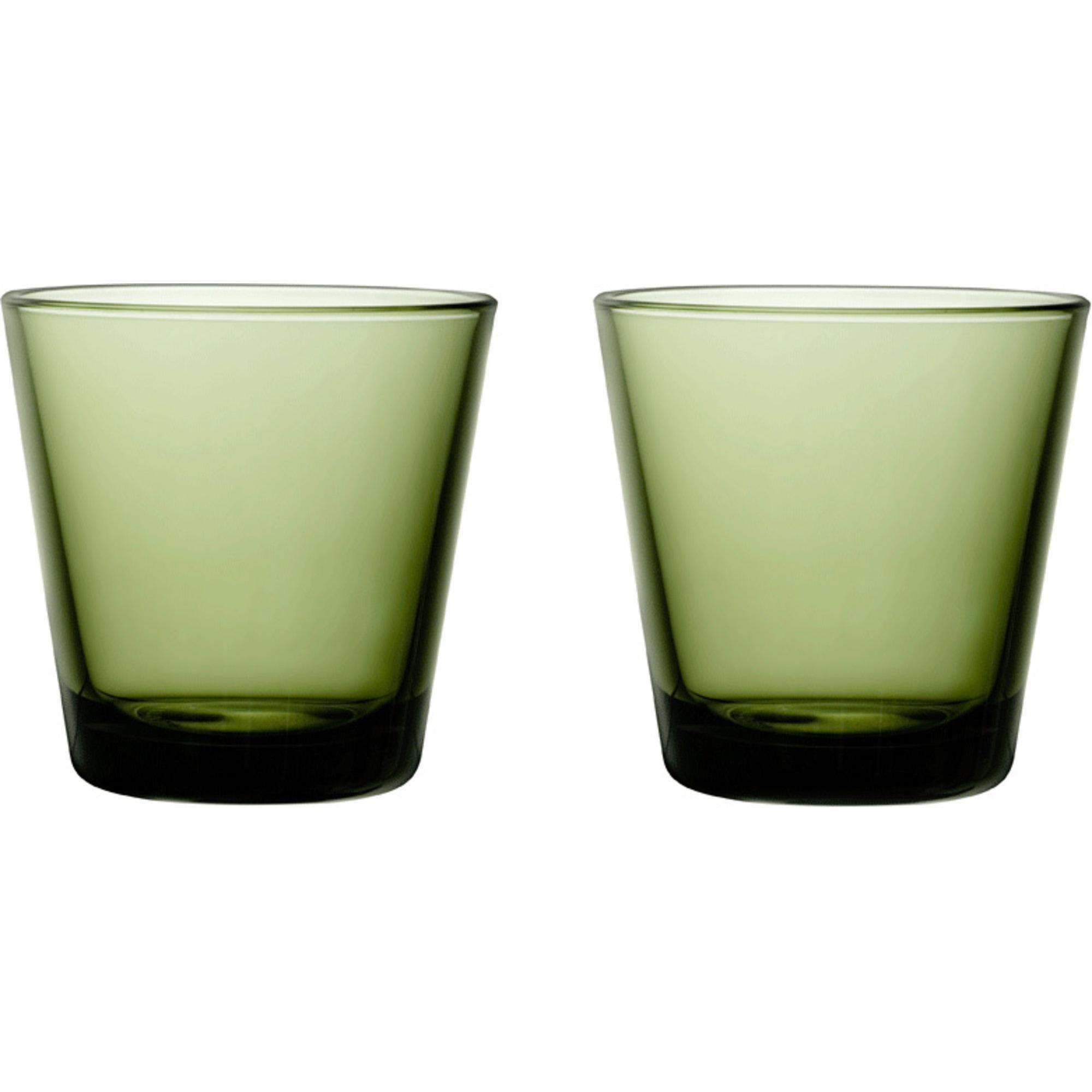 Iittala Kartio Glas 21 cl Mossgrön 2-pack