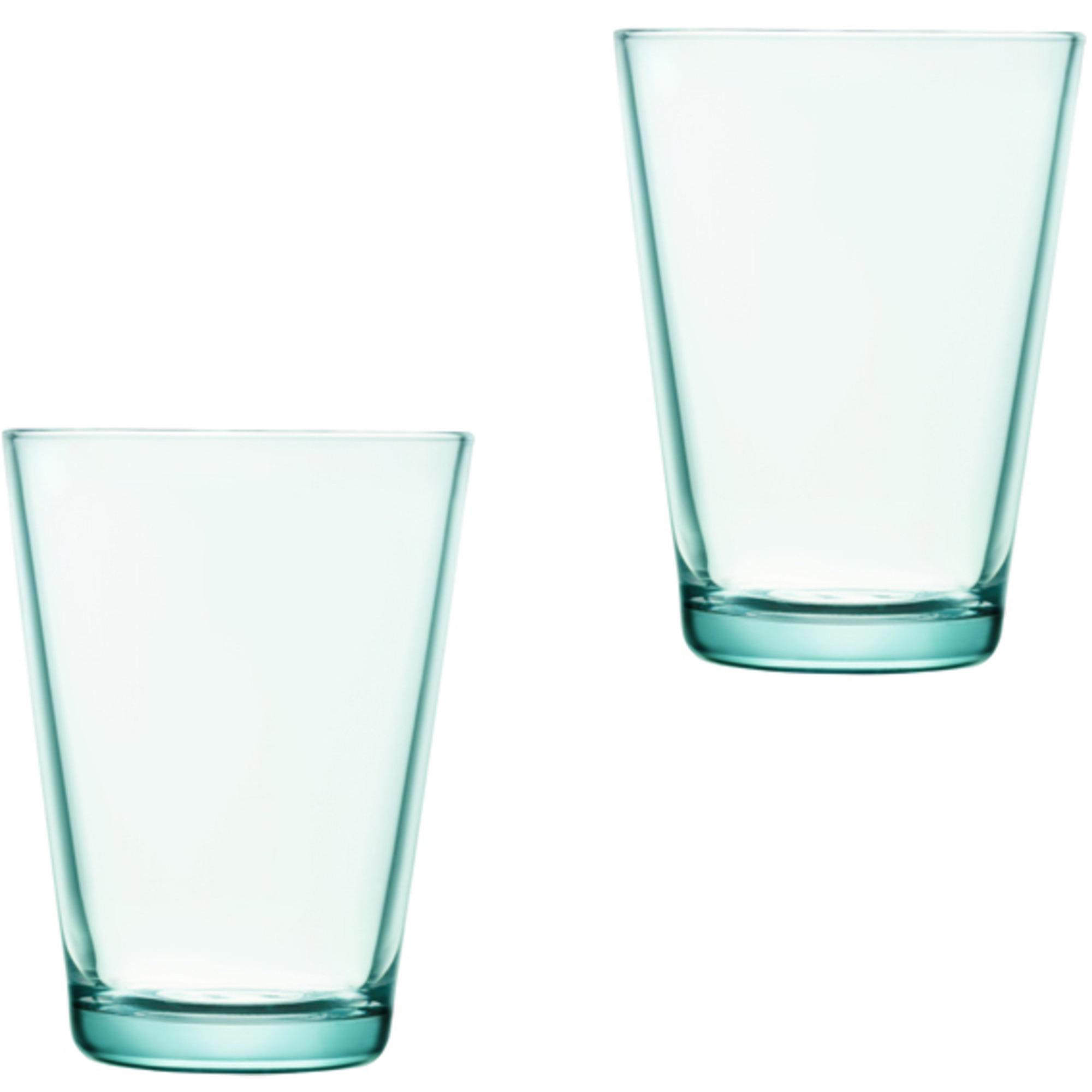 Iittala Kartio Glas 40 cl Vattengrön 2-pack