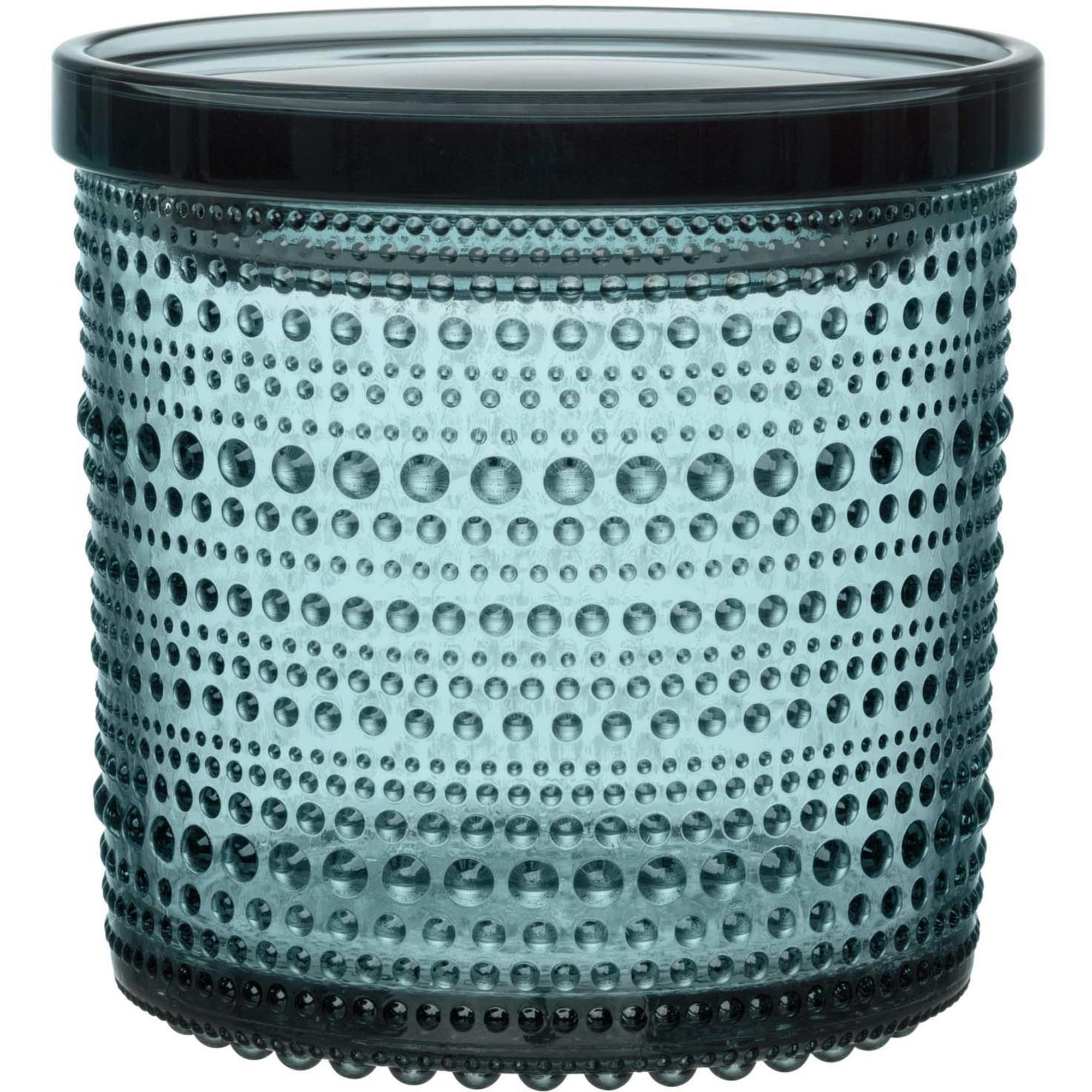 Iittala Kastehelmi burk 116×114 mm havsblå