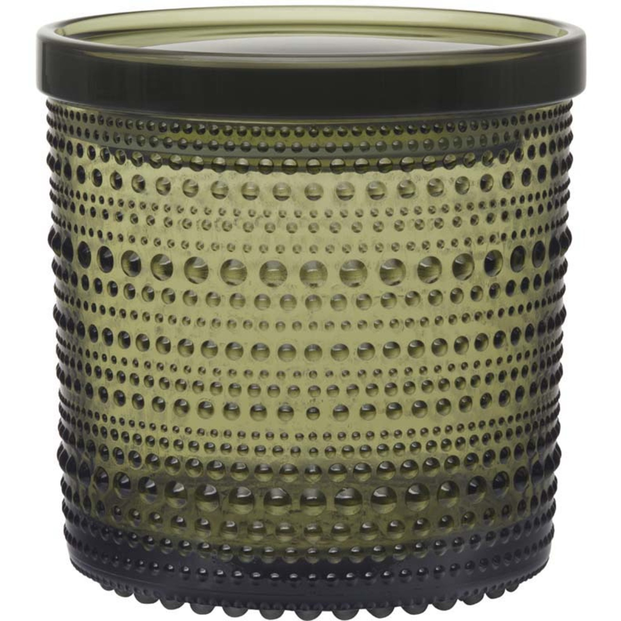 Iittala Kastehelmi Burk 116×114 mm Mossgrön
