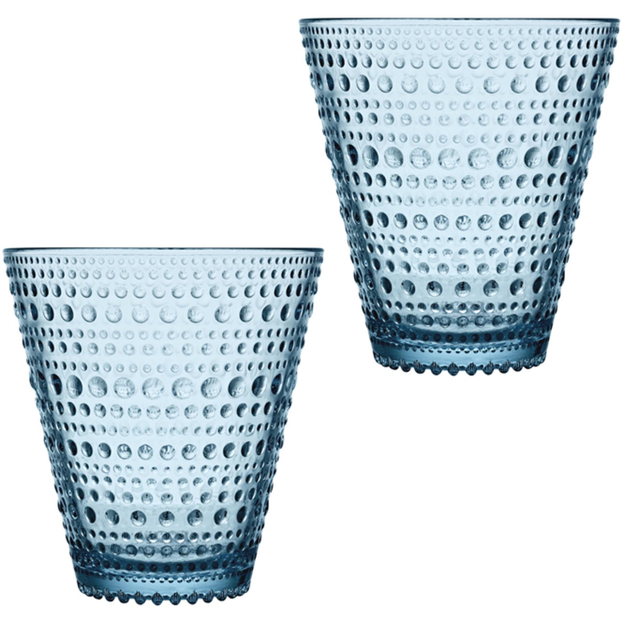 Iittala Kastehelmi Dricksglas 30cl Ljusblå 2-pack