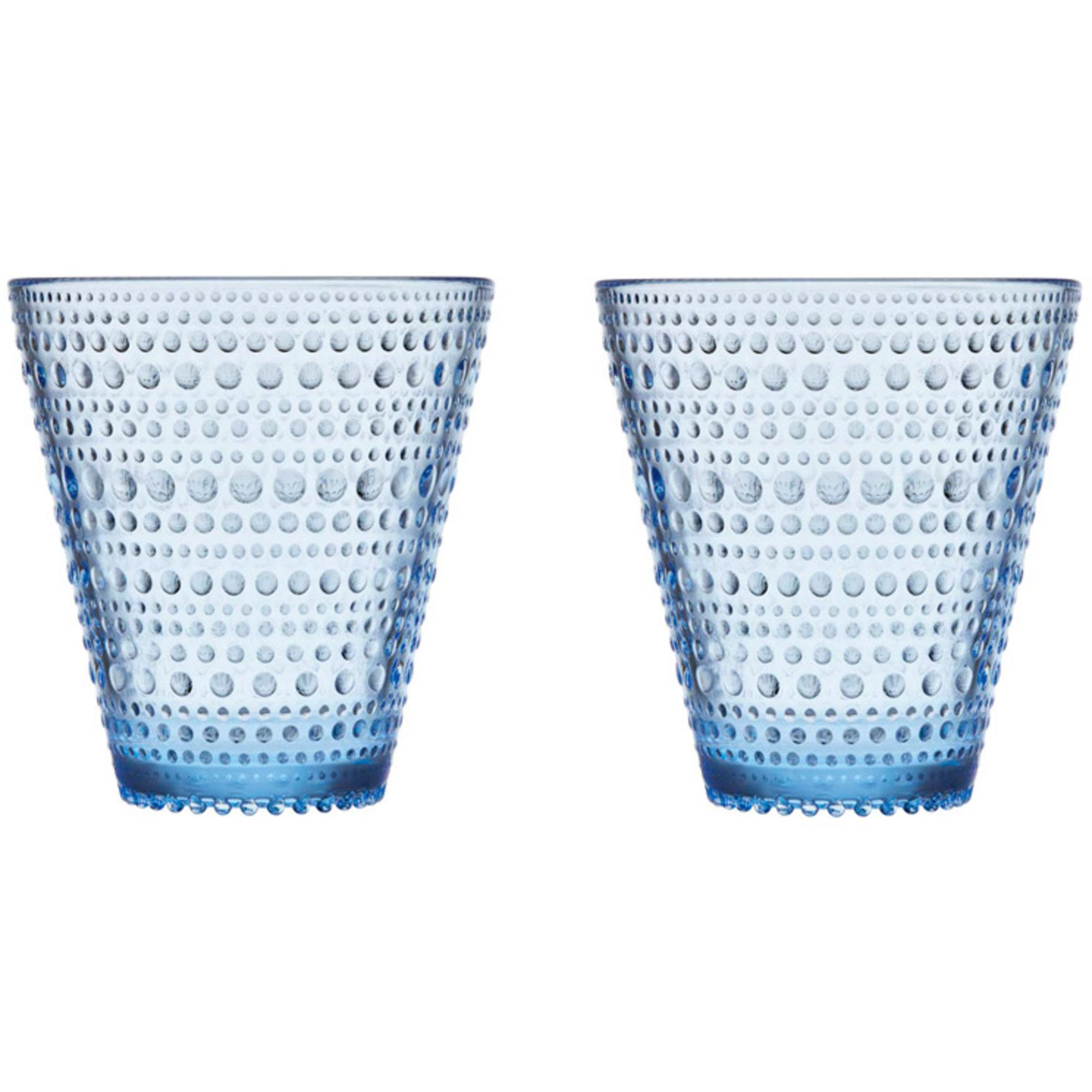 Iittala Kastehelmi Glas 30 cl Aqua 2-pack