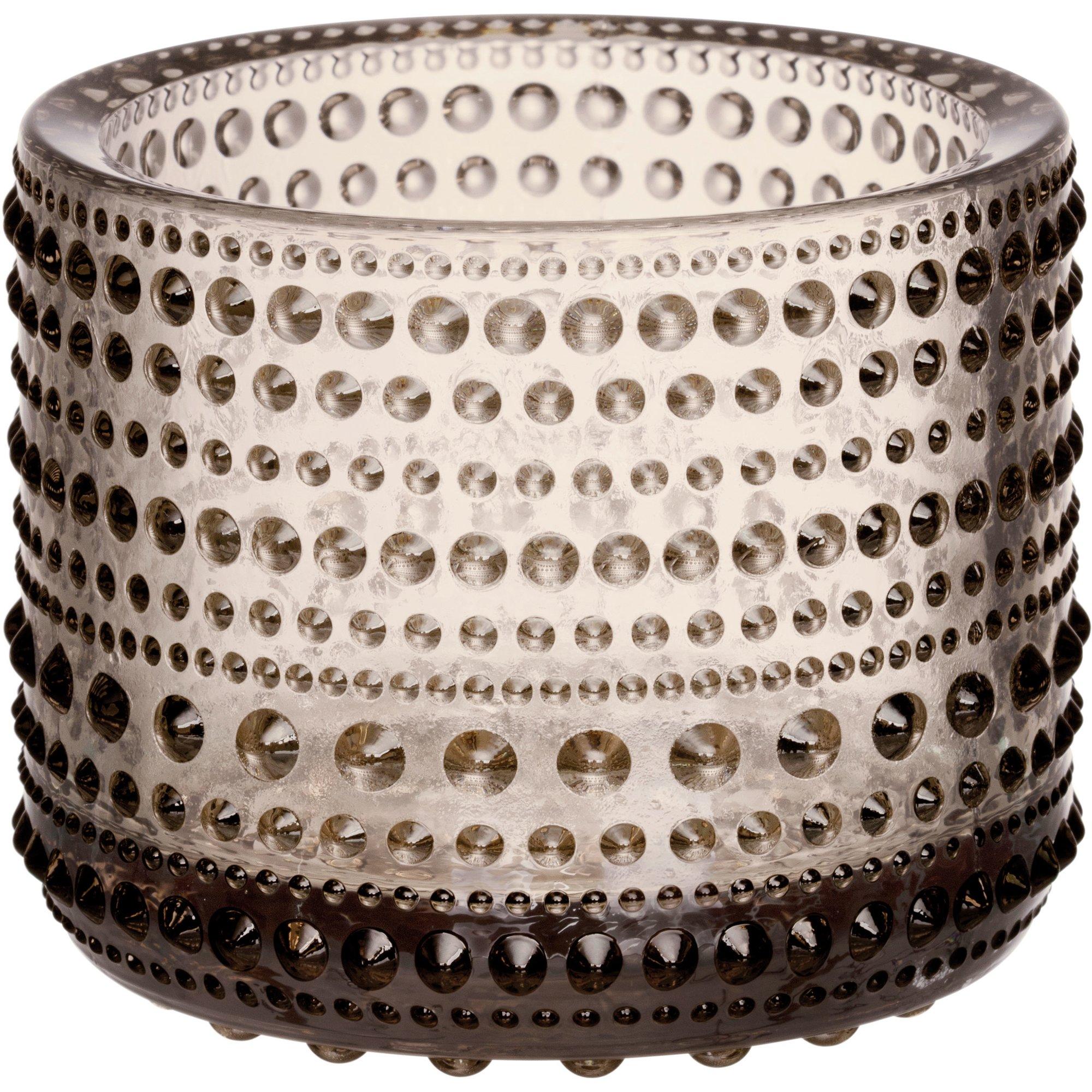 Iittala Kastehelmi ljuslykta, 6,4 cm., linne