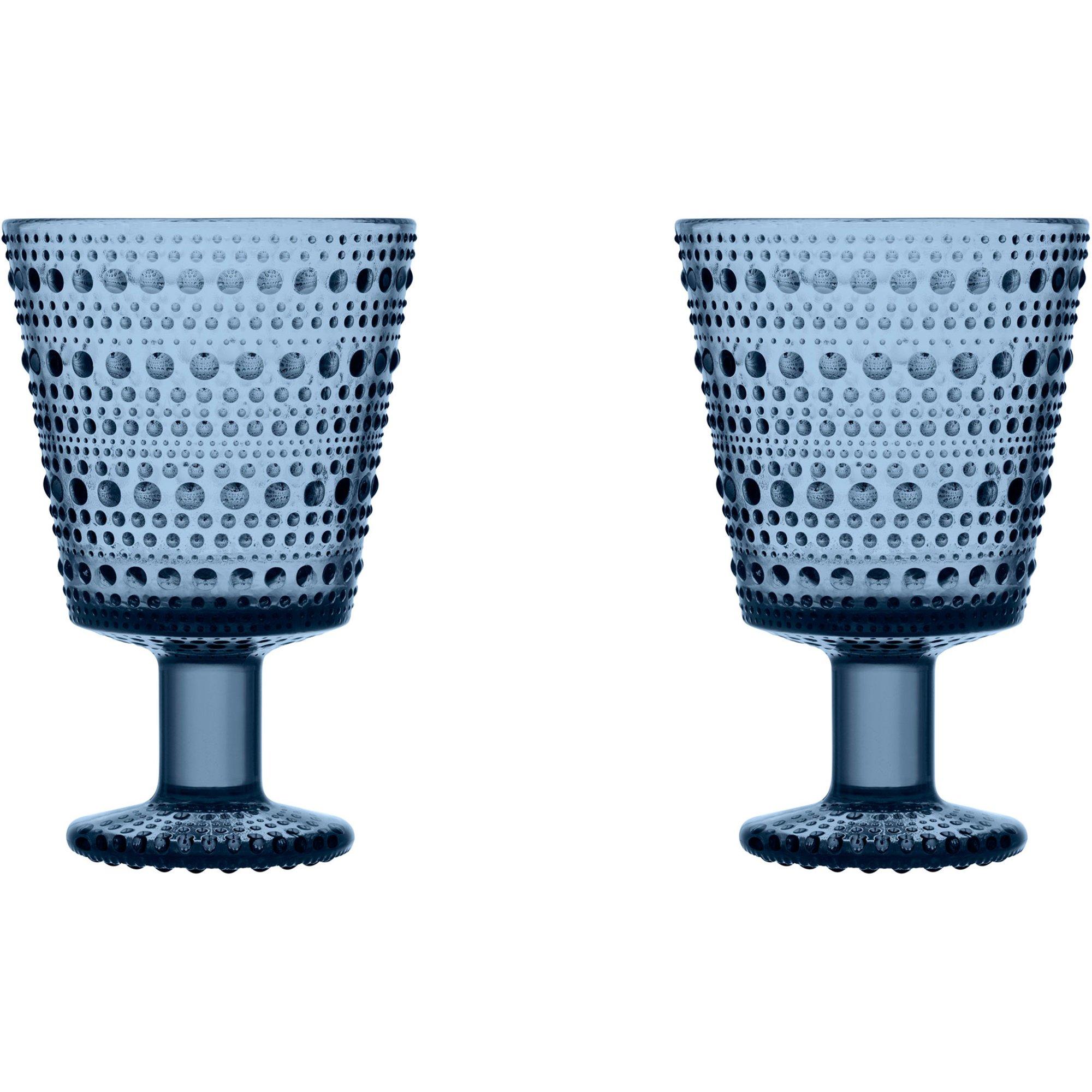 Iittala Kastehelmi Glas på fot 2 st. Regn