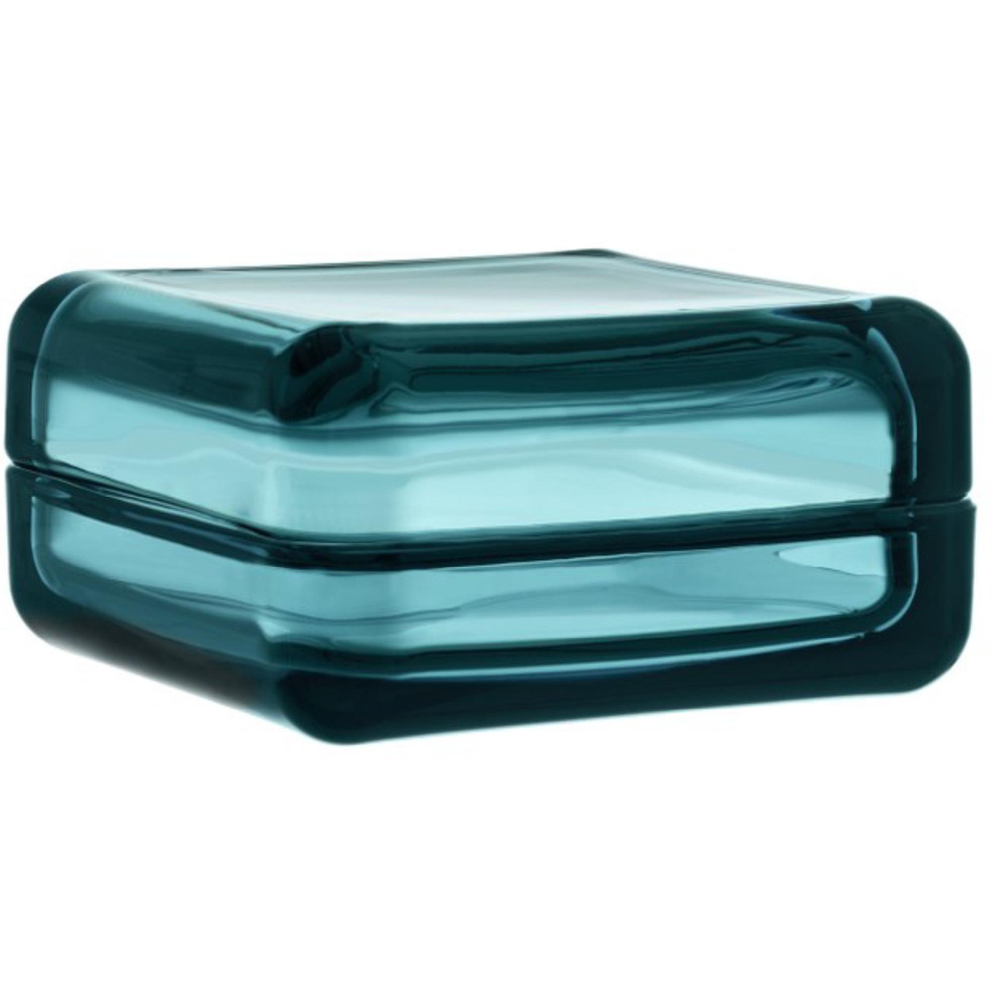 Iittala Vitriini Glasask 108×108 mm Havsblå
