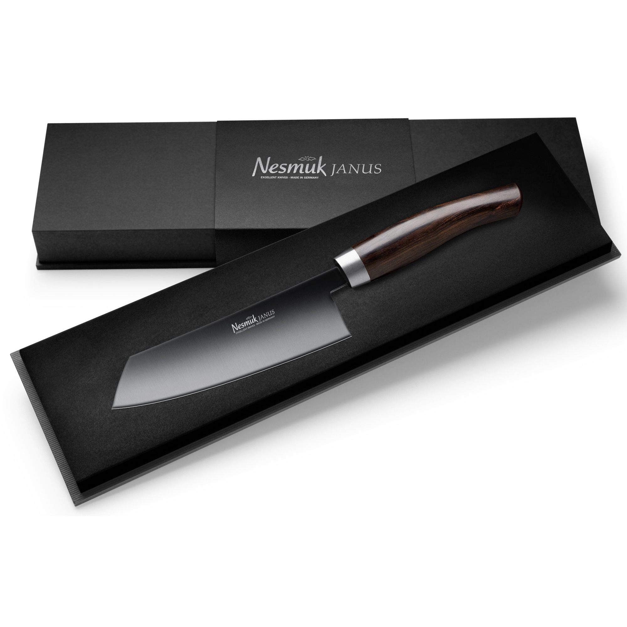 Nesmuk Janus Grenadilla kockkniv 14 cm.