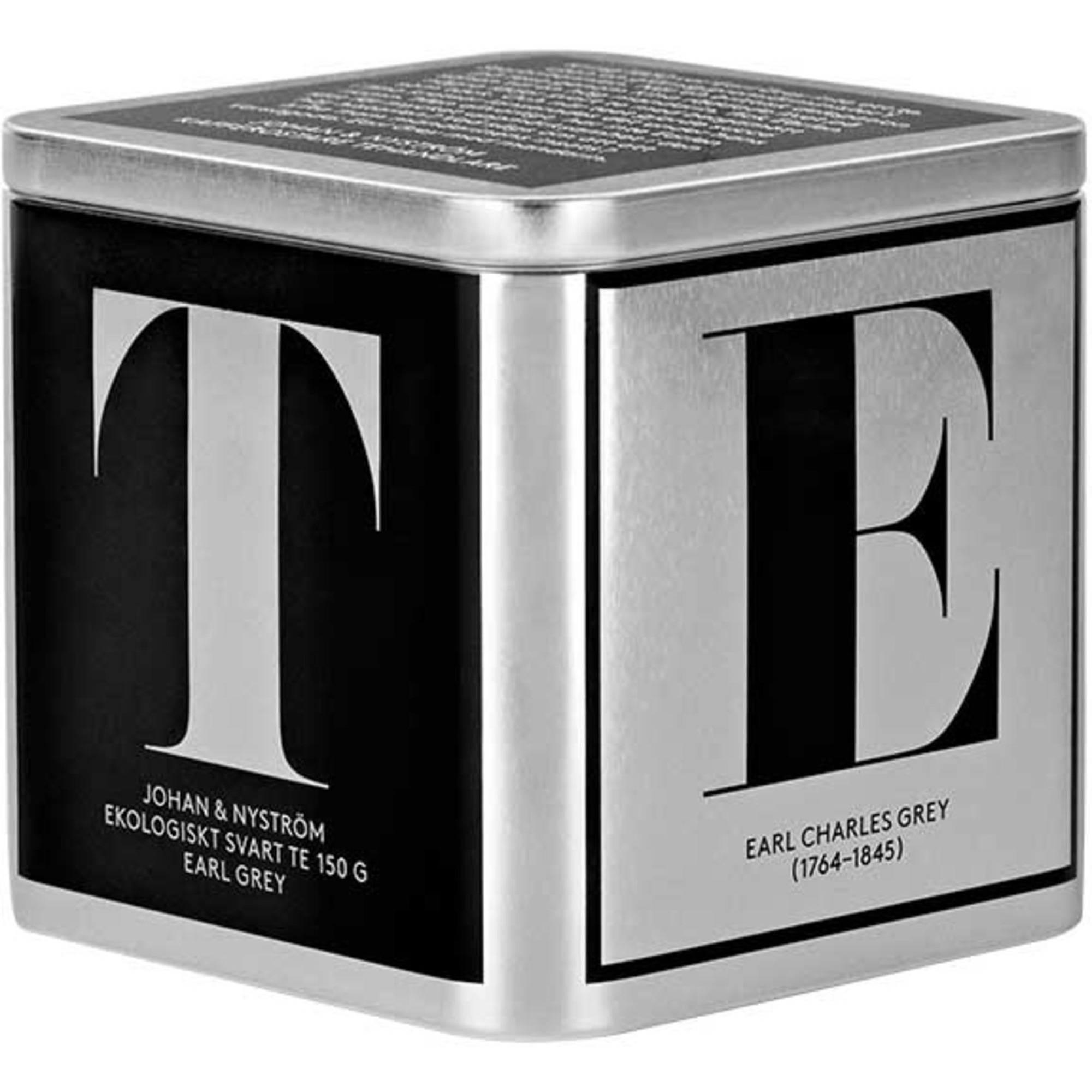 Johan & Nyström T-TE Earl Grey Ekologiskt Svart Te 150g Plåtbox